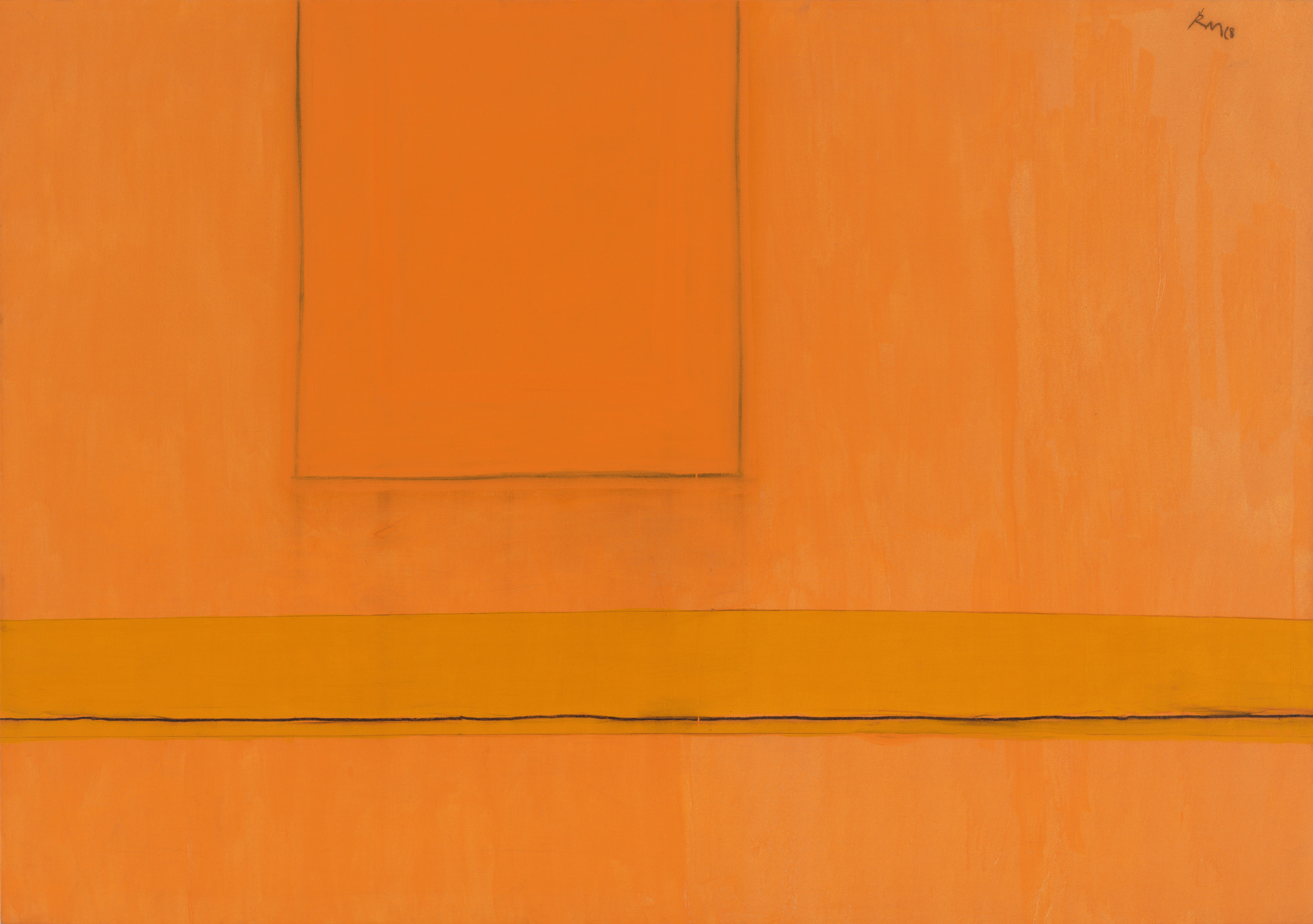 Robert Motherwell. Open Number 24 in Variations of Orange. 1968