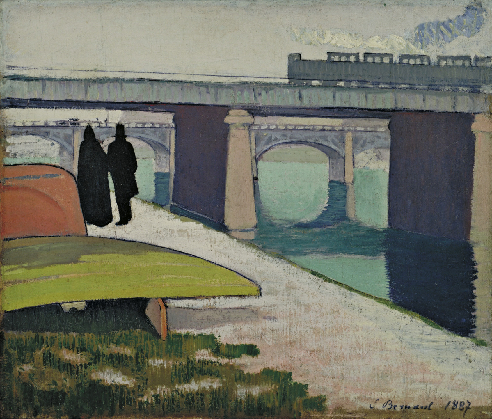 Émile Bernard. Iron Bridges at Asnières. 1887