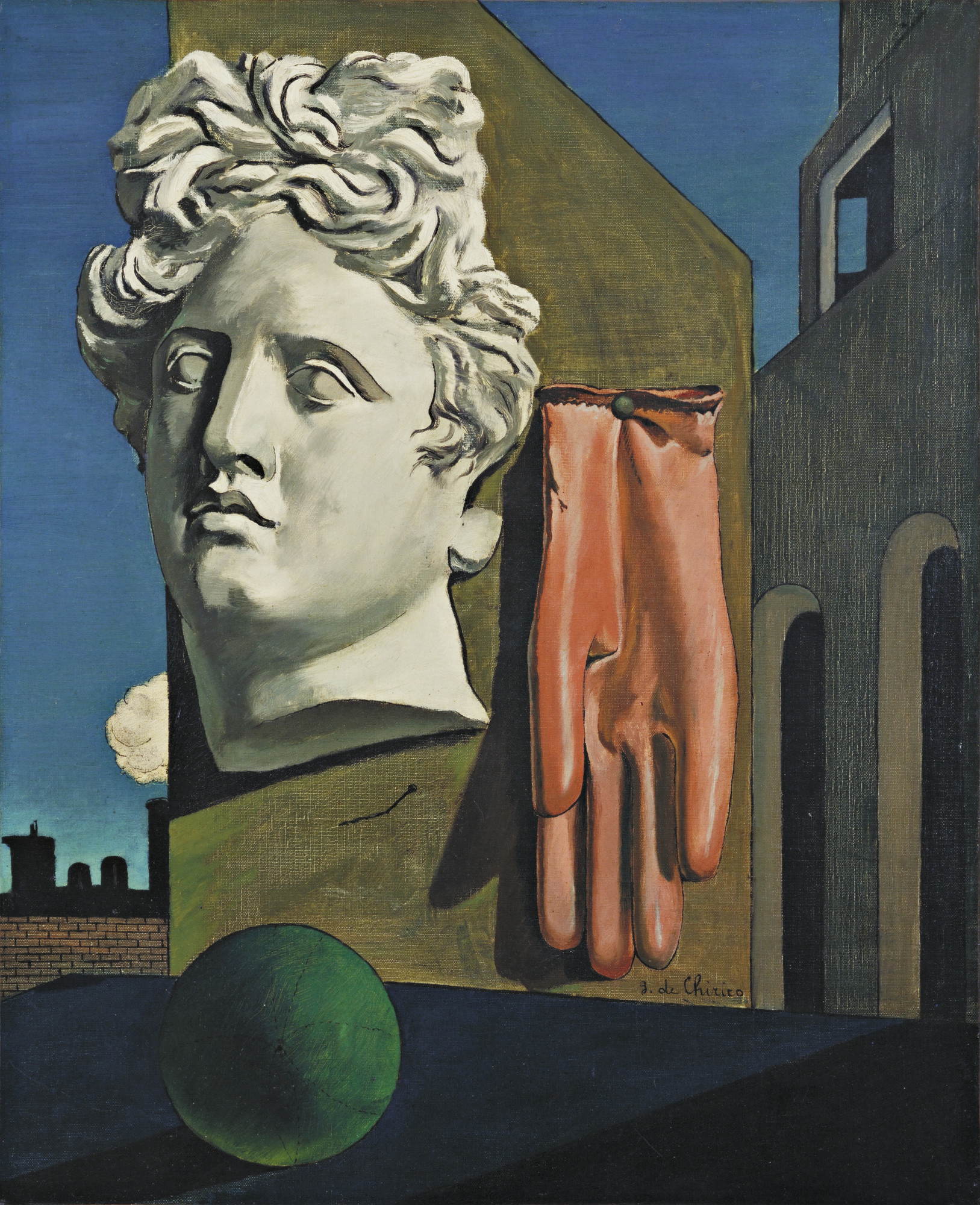 Giorgio de Chirico – The Song of Love (pre-Surrealist painting, 1914) [1627×2000]