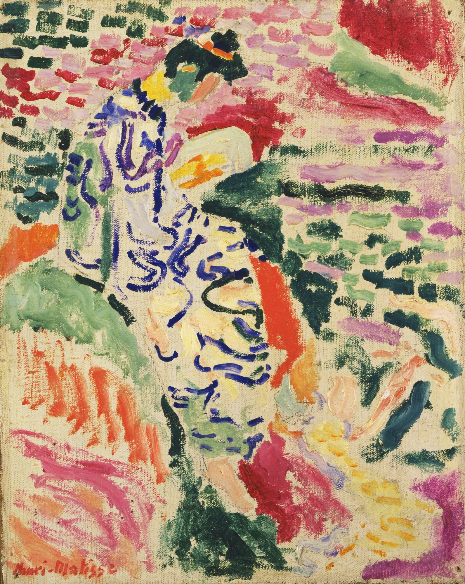 Henri Matisse. La Japonaise: Woman beside the Water. Collioure, summer 1905