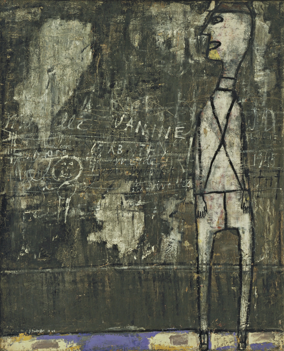 Jean Dubuffet. Wall with Inscriptions. April 1945