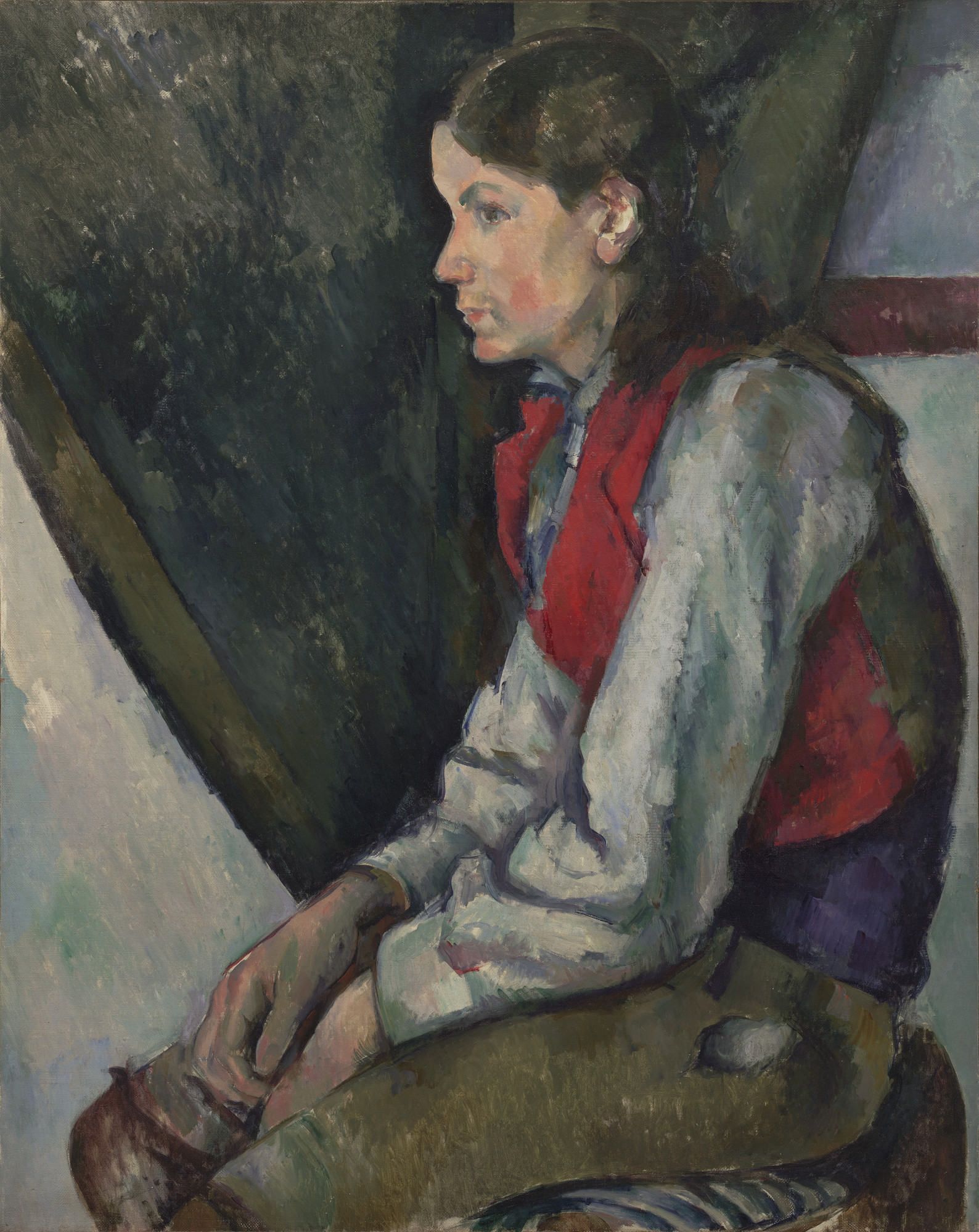 Paul Cézanne. Boy in a Red Vest. 1888-90