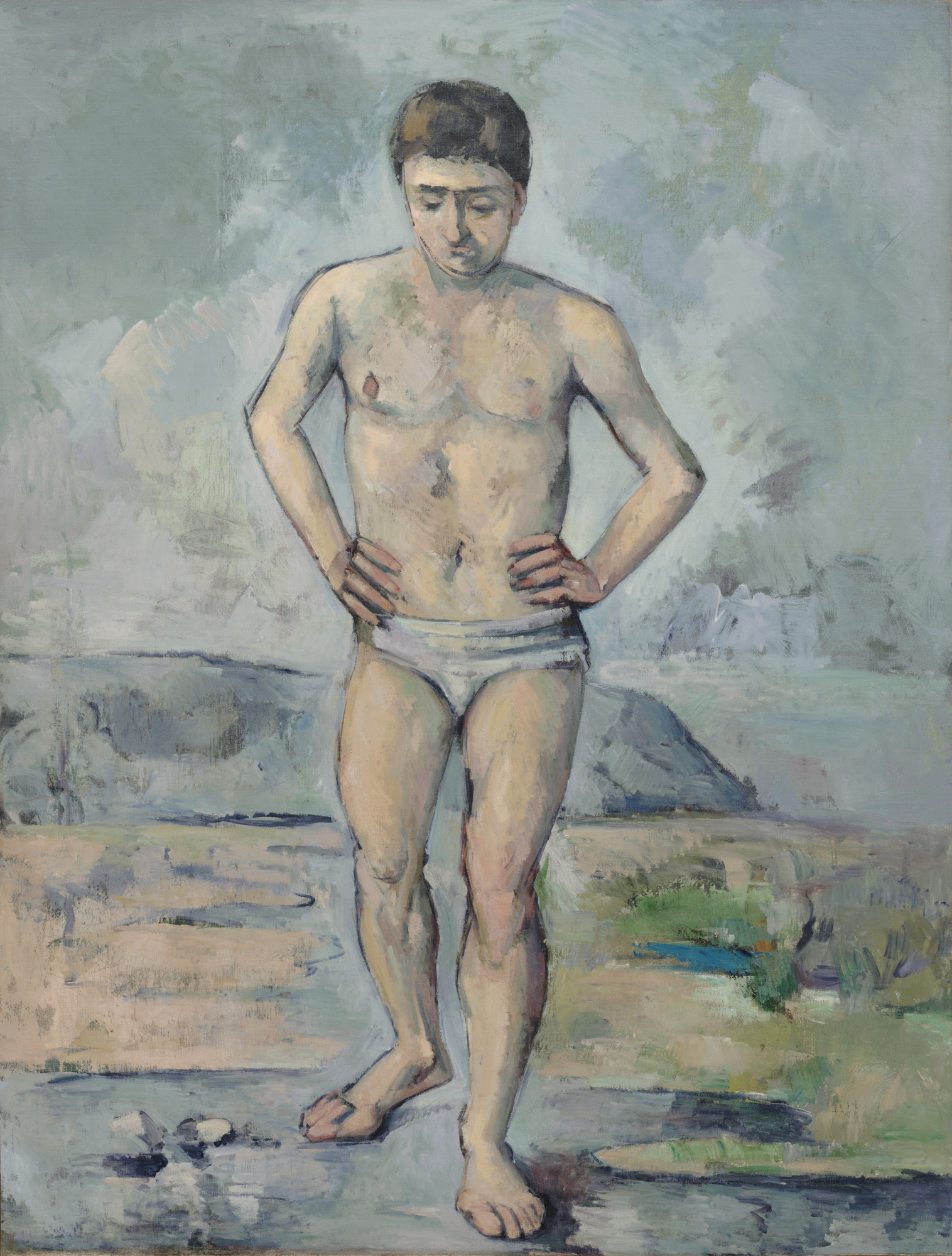 Paul Cézanne. The Bather. c. 1885