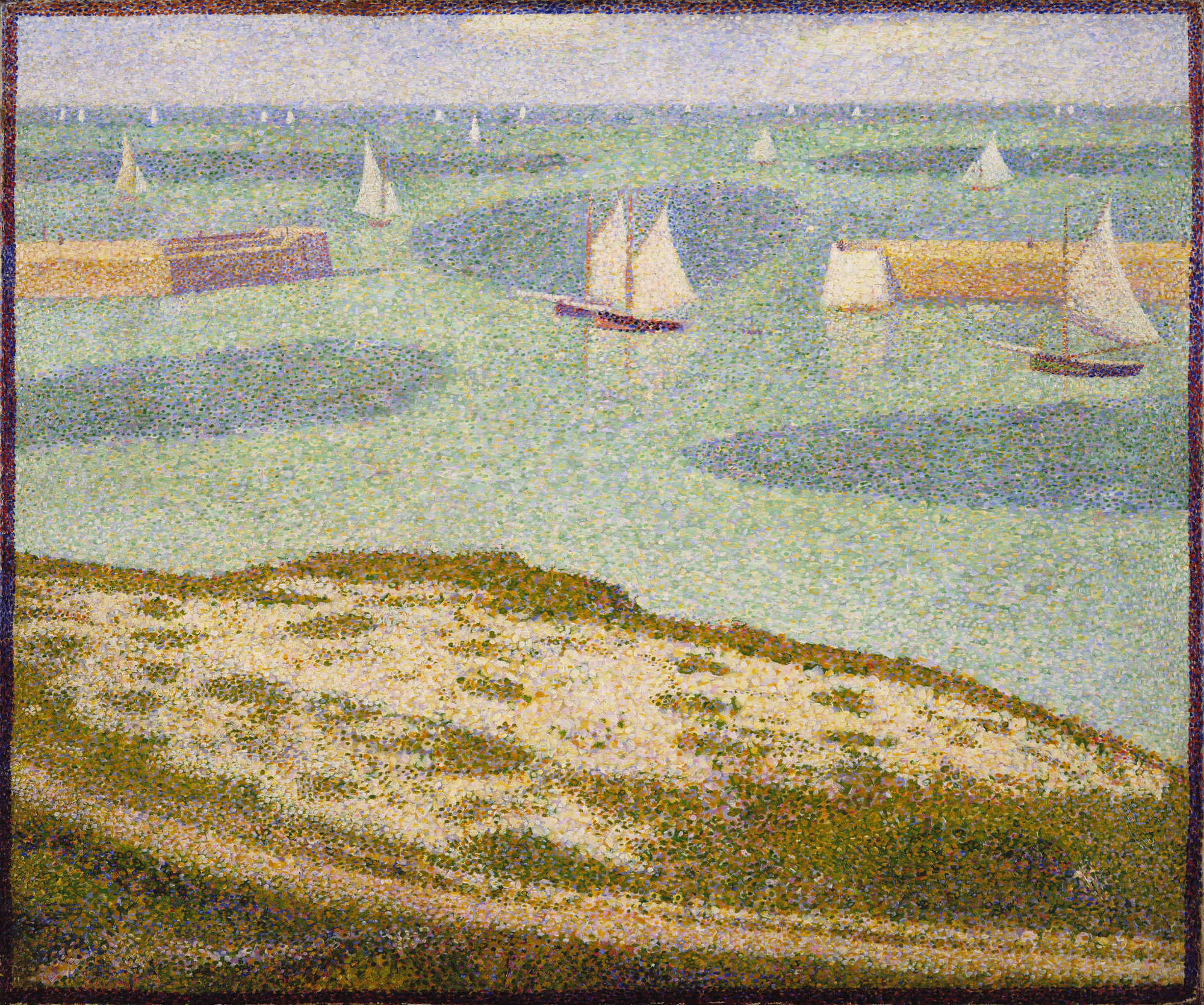 GeorgesPierre Seurat PortenBessin Entrance To The Harbor - Location port en bessin