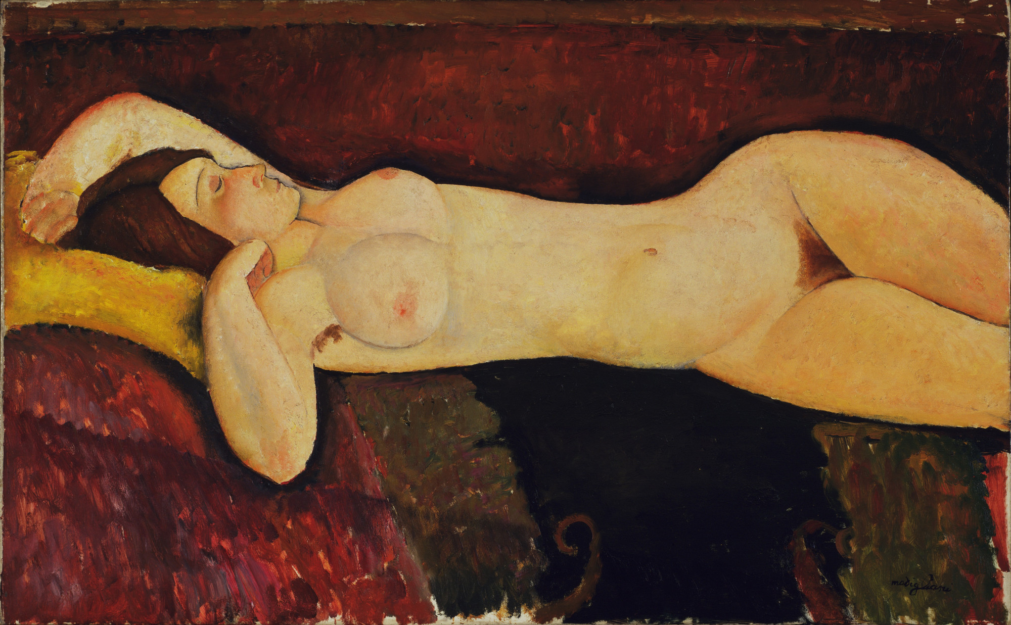 Amedeo Modigliani. Reclining Nude. c. 1919
