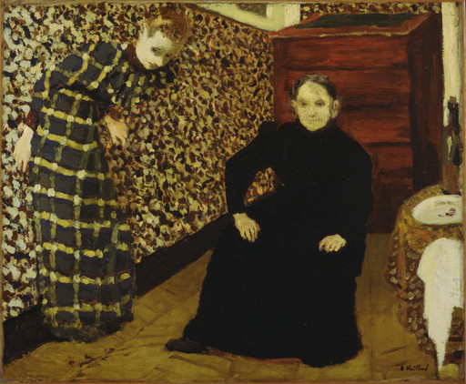 Édouard Vuillard. Interior, Mother and Sister of the Artist. 1893