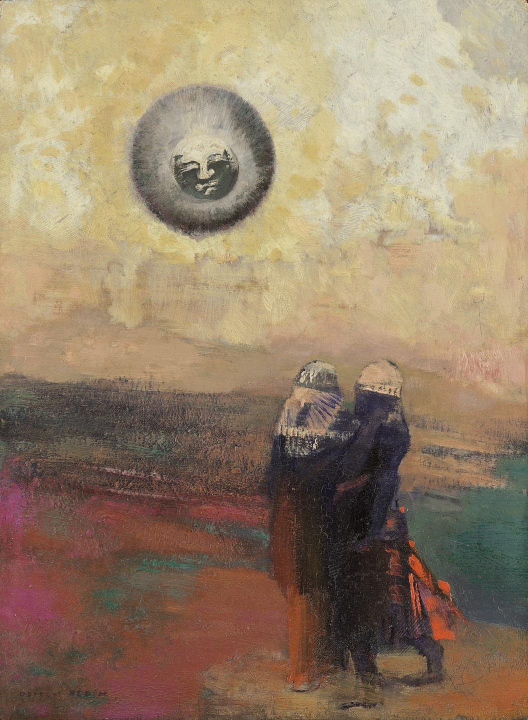 Odilon Redon. The Black Sun. c. 1900