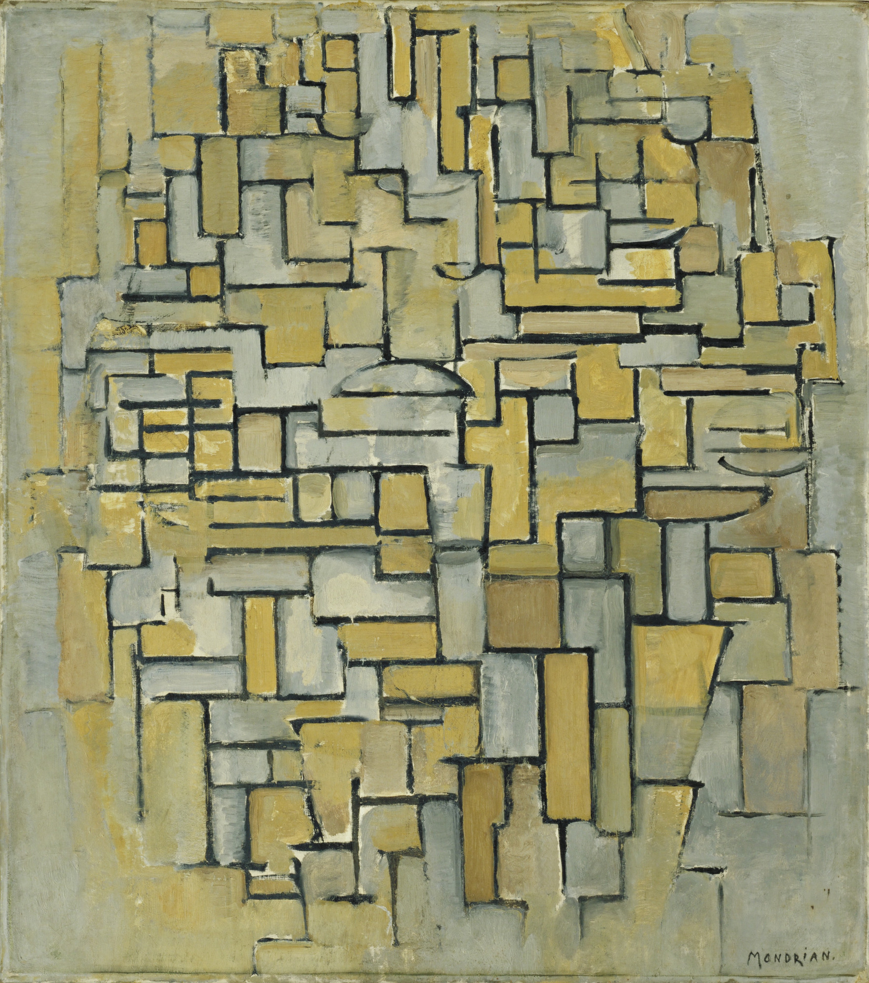 Piet Mondrian. Composition in Brown and Gray. 1913