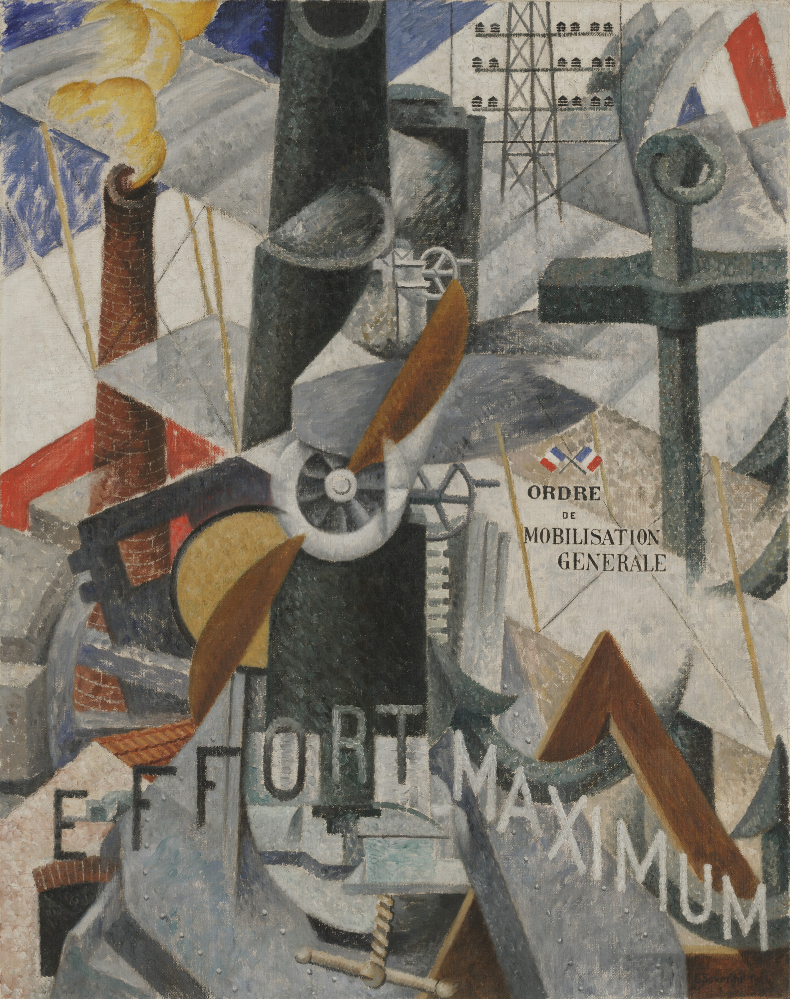 "Gino Severini. Visual Synthesis of the Idea: ""War"". 1914"