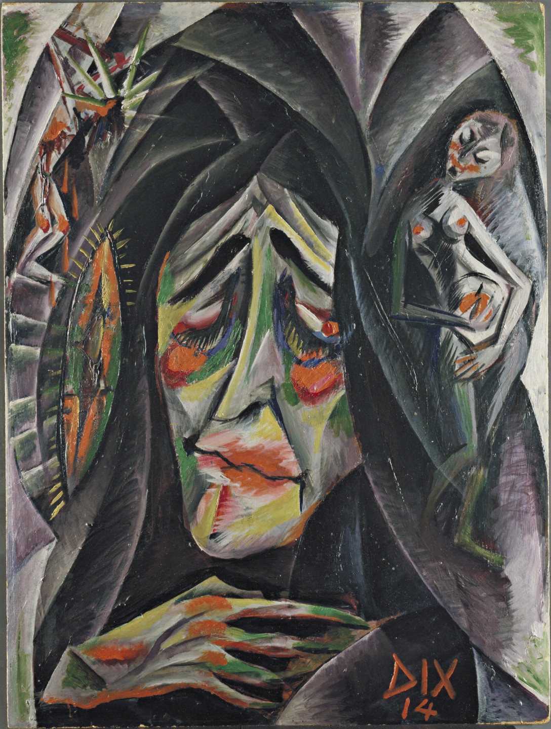 Otto Dix. The Nun. 1914