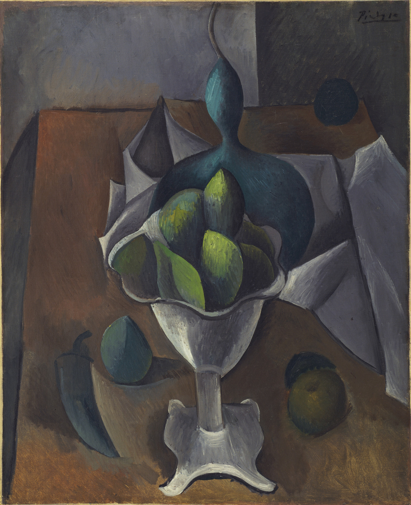 Pablo Picasso. Fruit Dish. Paris, winter 1908-09