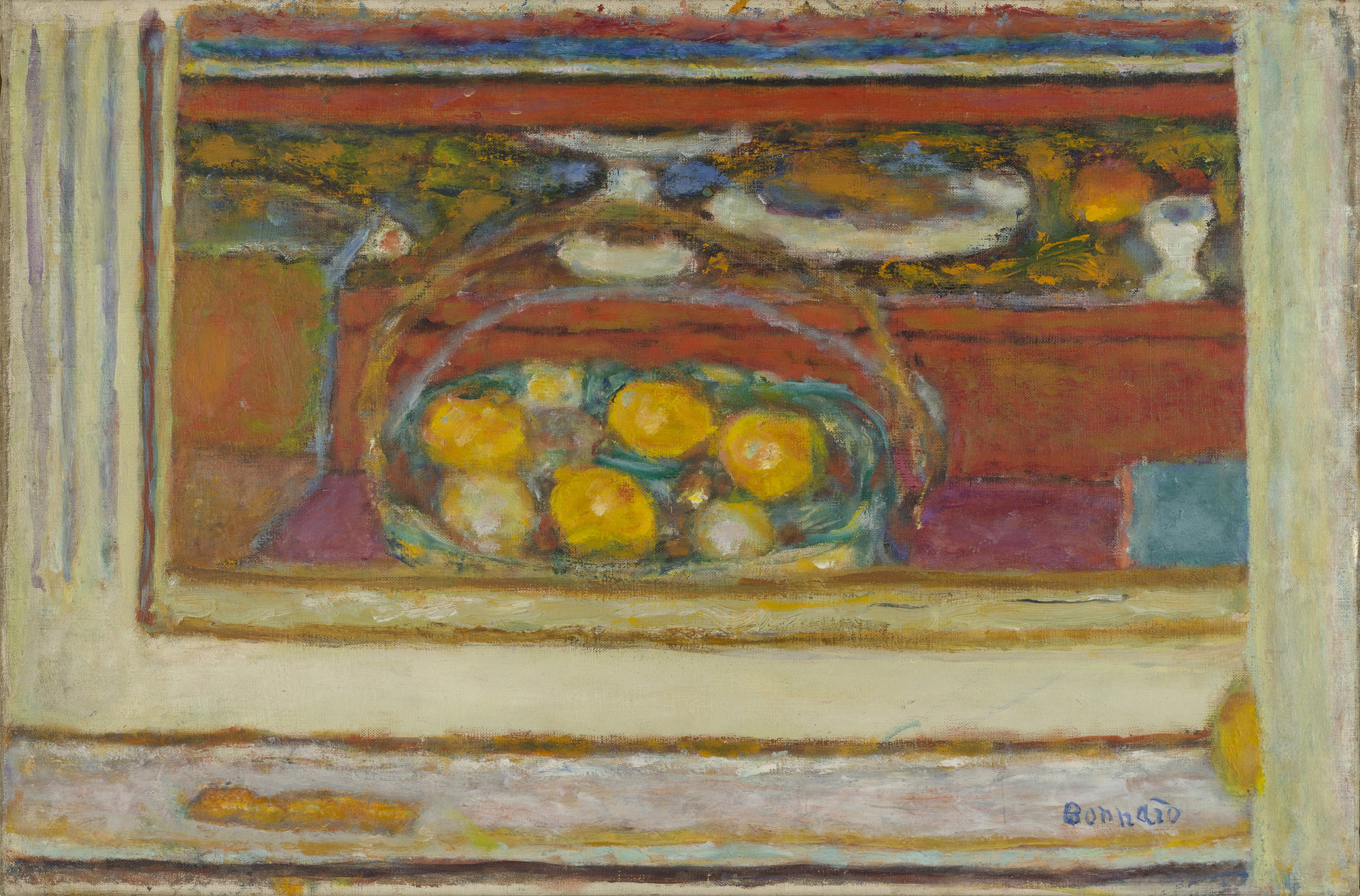 Pierre Bonnard. Basket of Fruit Reflected in a Mirror. c. 1944-46