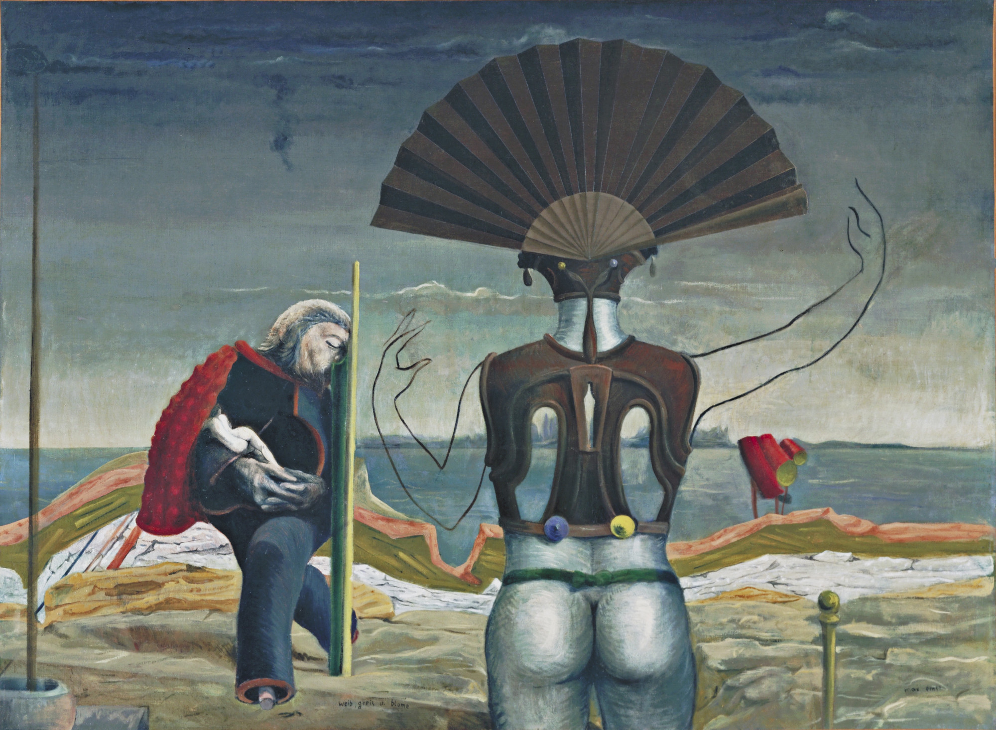Max Ernst. Woman, Old Man, and Flower (Weib, Greis und Blume). Paris 1923, Eaubonne 1924