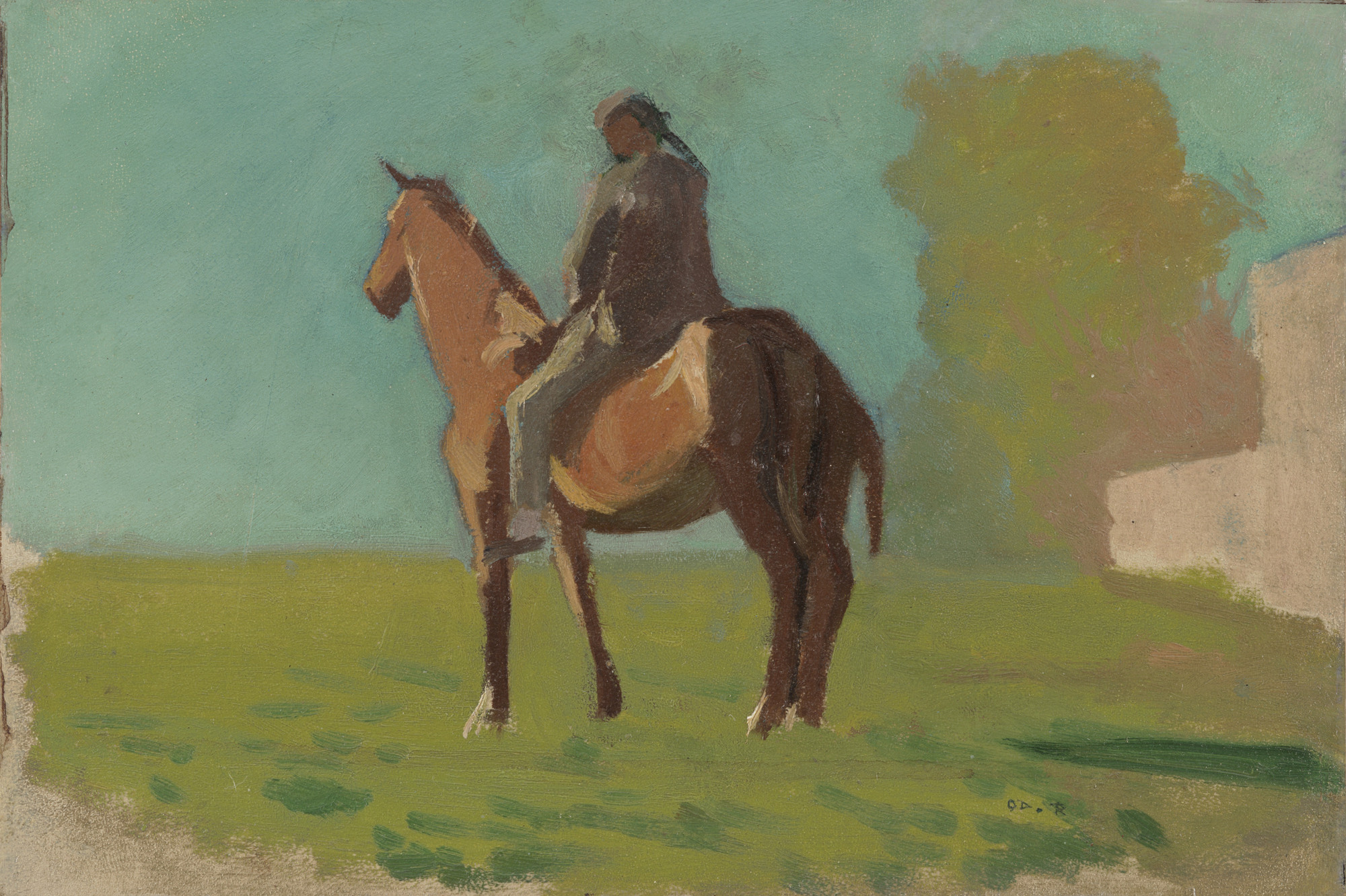Odilon Redon. Apache (Man on Horseback). c. 1875