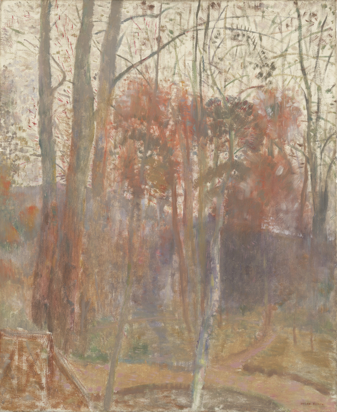 Odilon Redon. Trees in Bièvres. after 1900