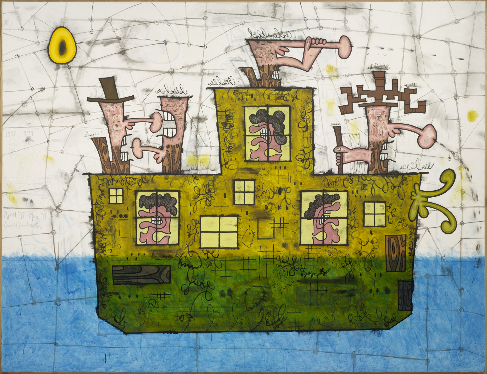 Carroll Dunham. Ship. New York, April 1997 - May 1999