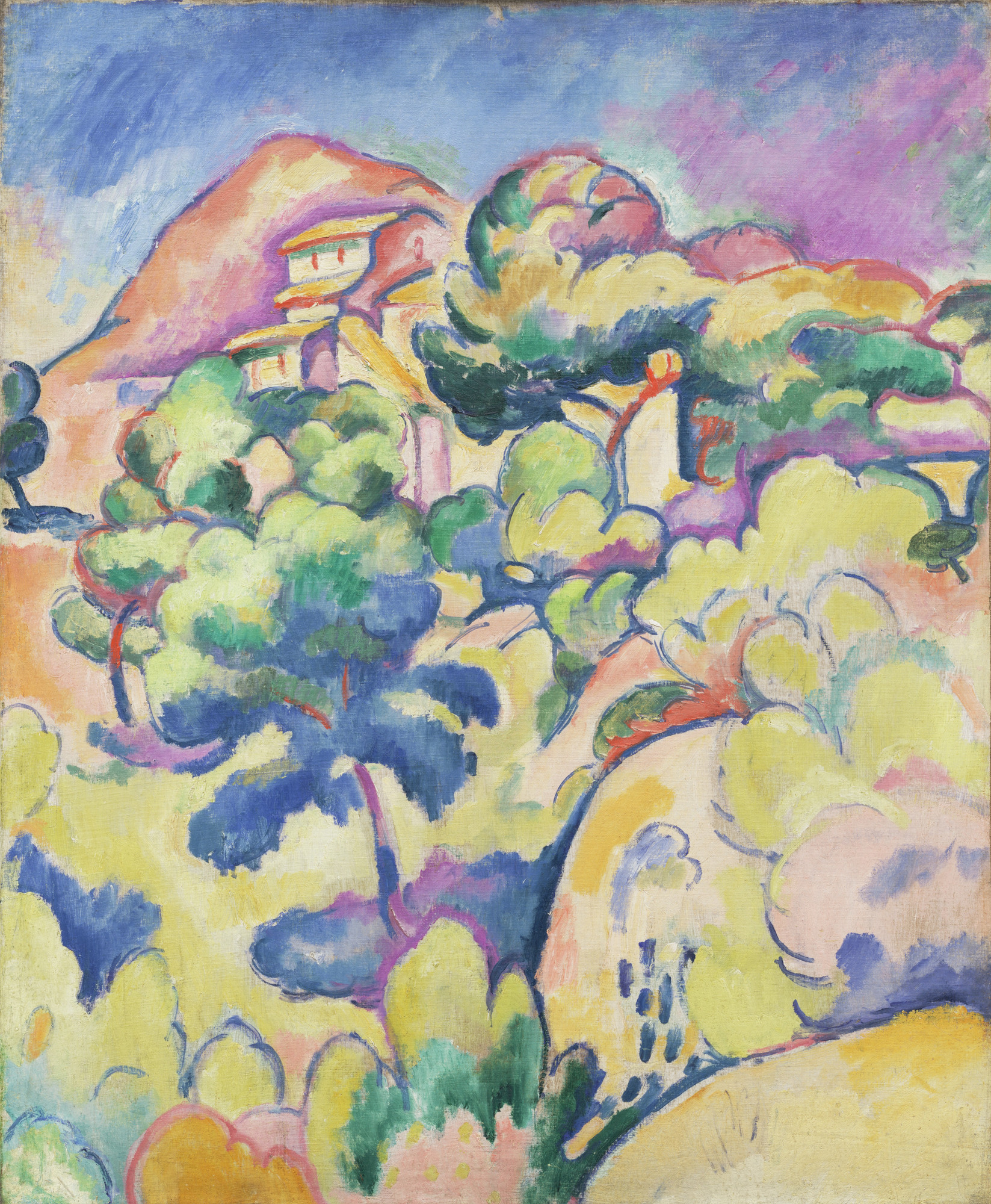 georges braque landscape at la ciotat la ciotat summer 1907 moma