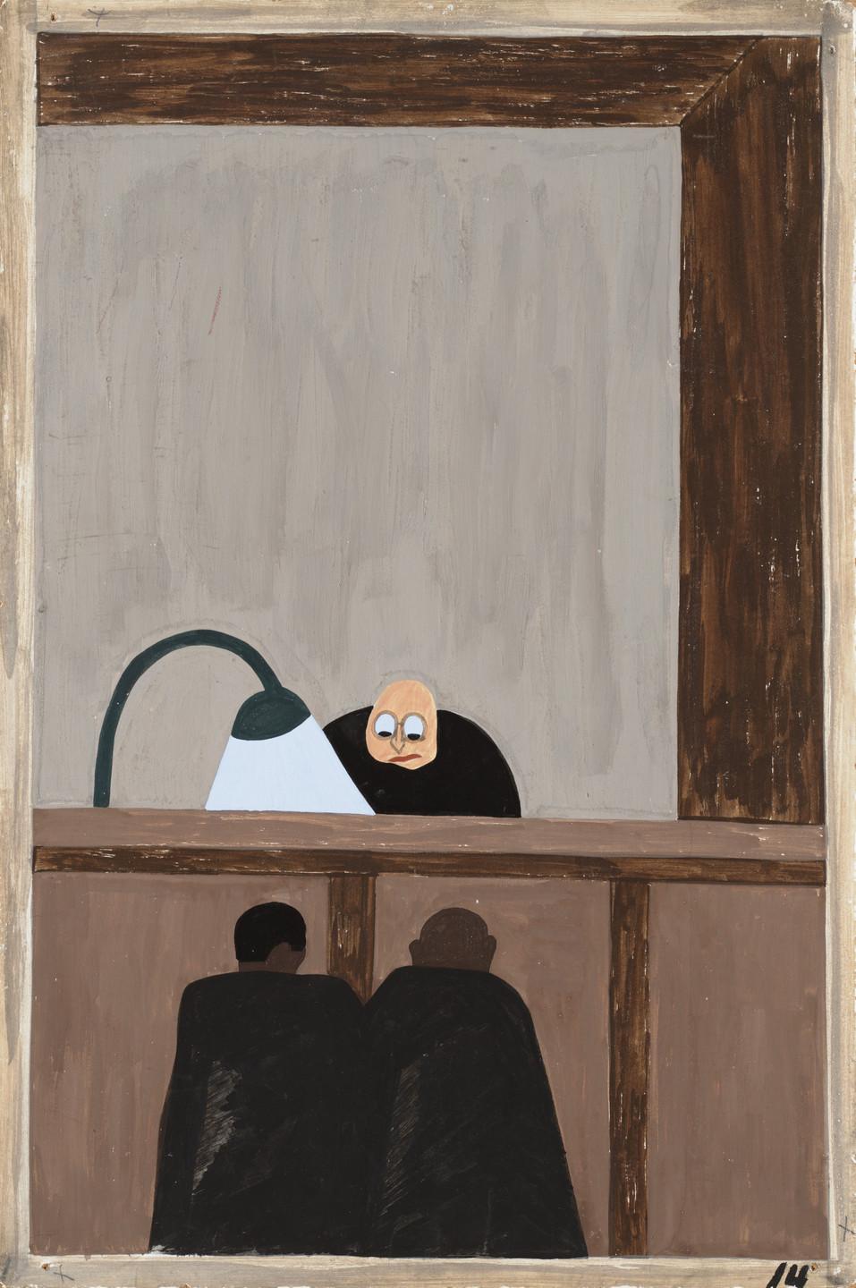 Jacob Lawrence. Among the social conditions that existed which was partly the cause of the migration was the injustice done to the Negroes in the courts. 1940-41