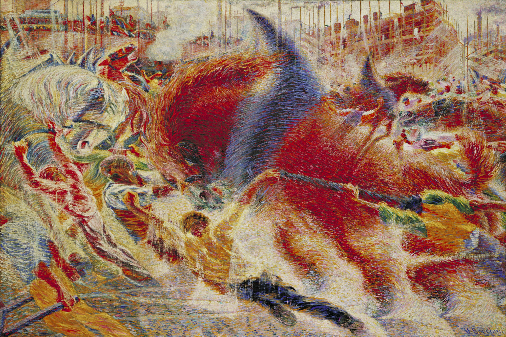 Umberto Boccioni. The City Rises. 1910