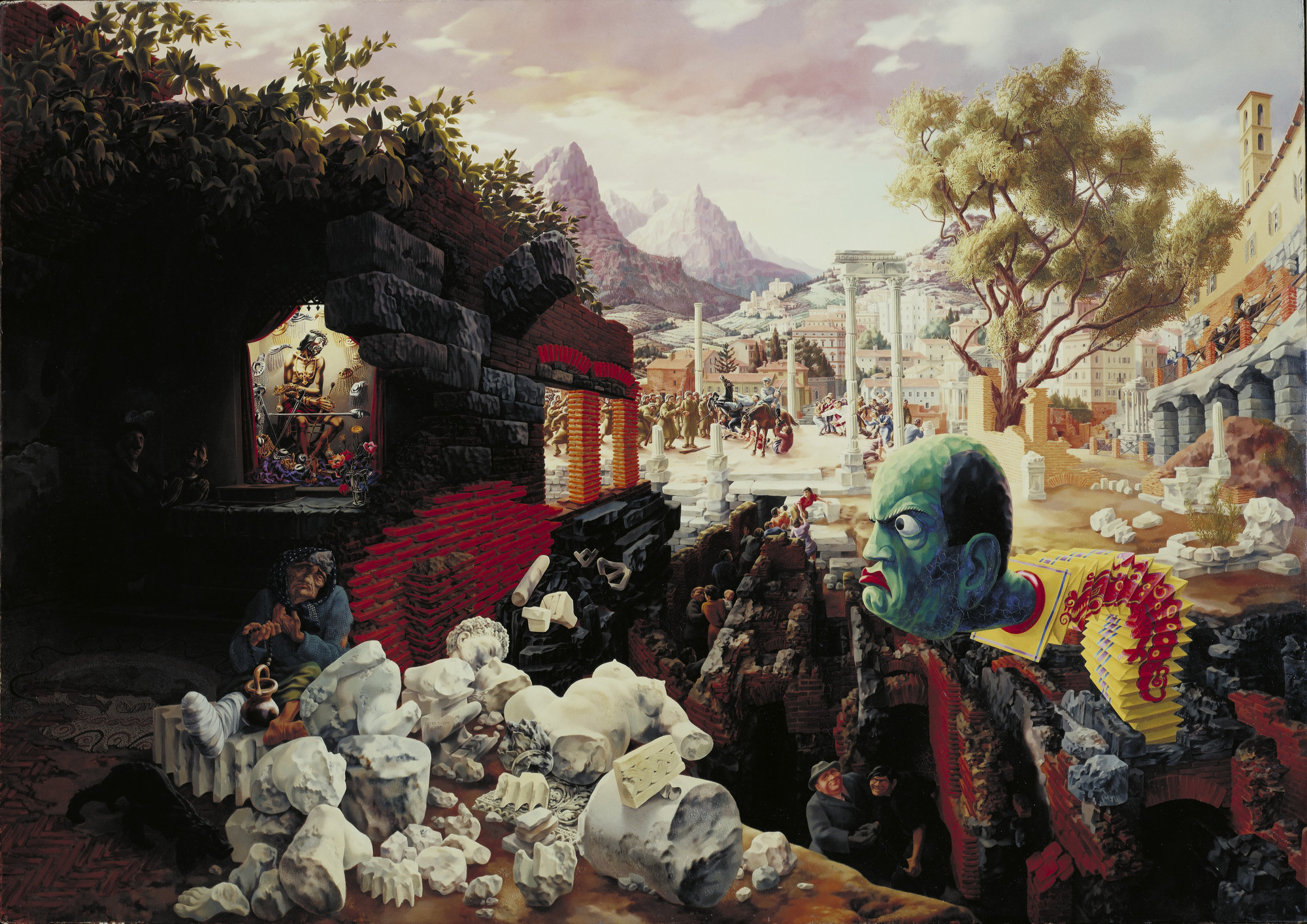 Peter Blume. The Eternal City. 1934-37 (dated on painting 1937)