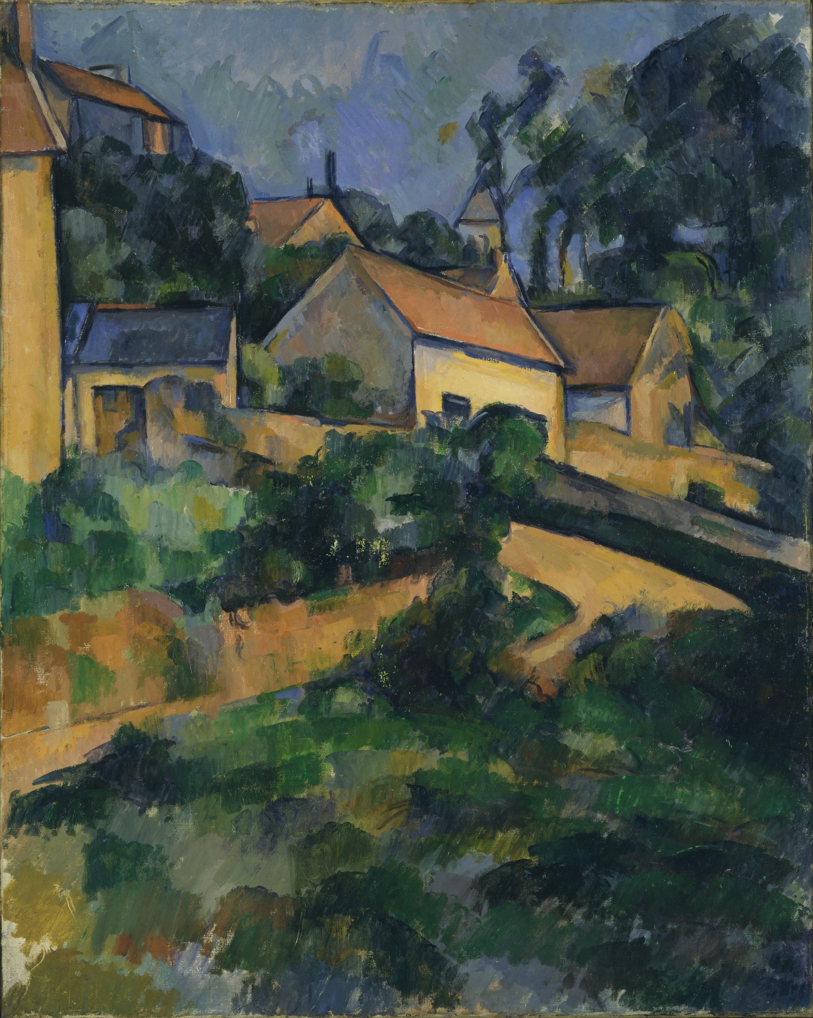 Paul Cézanne. Turning Road at Montgeroult. 1898