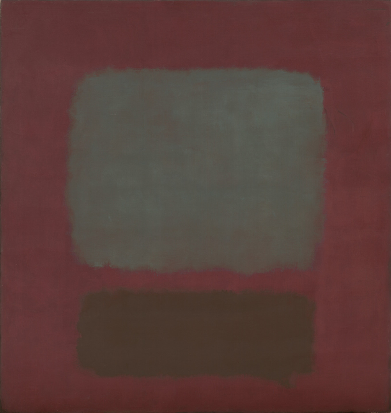 Mark Rothko. No. 37/No. 19 (Slate Blue and Brown on Plum). 1958