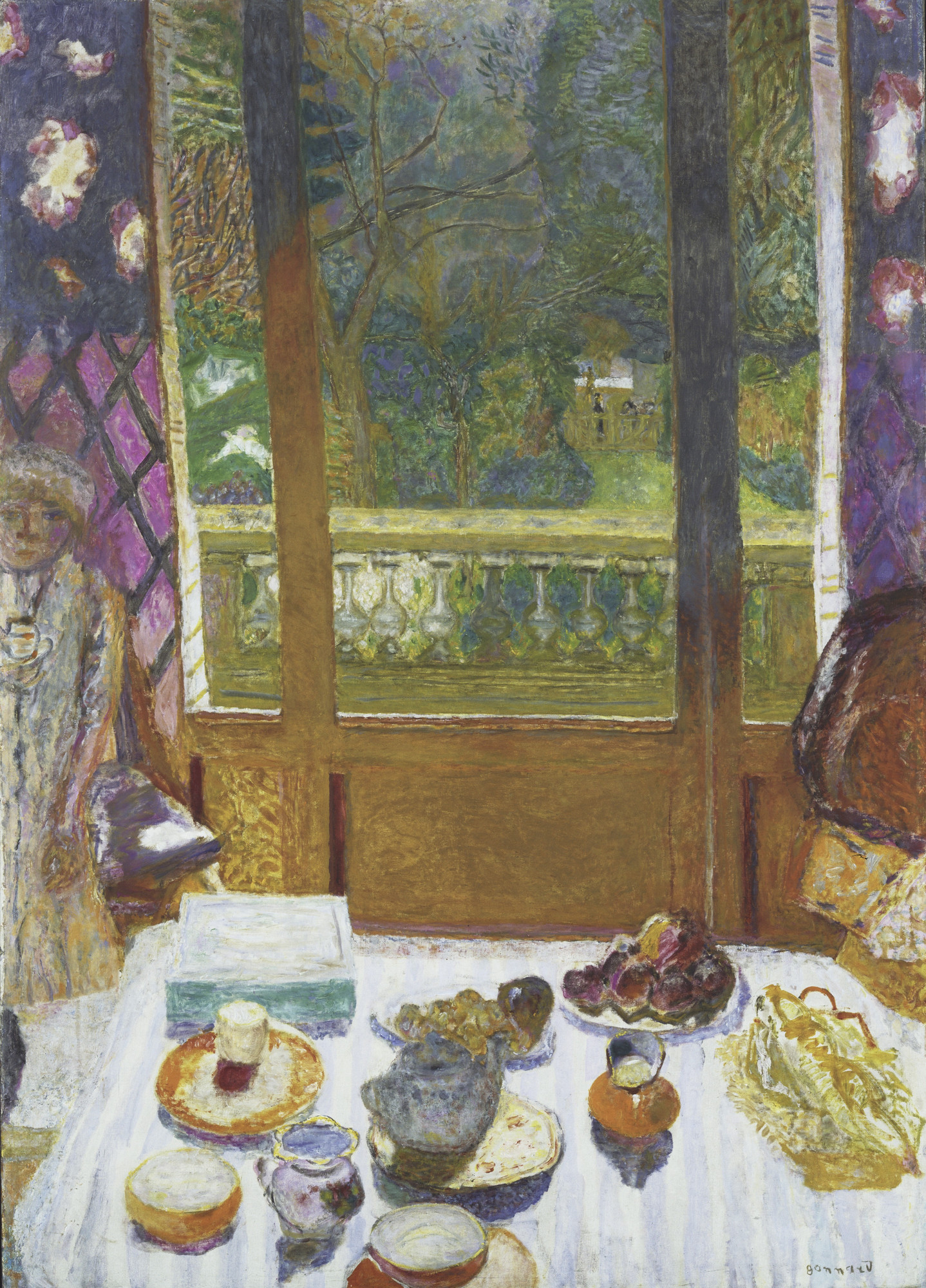 Pierre Bonnard. Dining Room Overlooking the Garden (The Breakfast Room). 1930-31