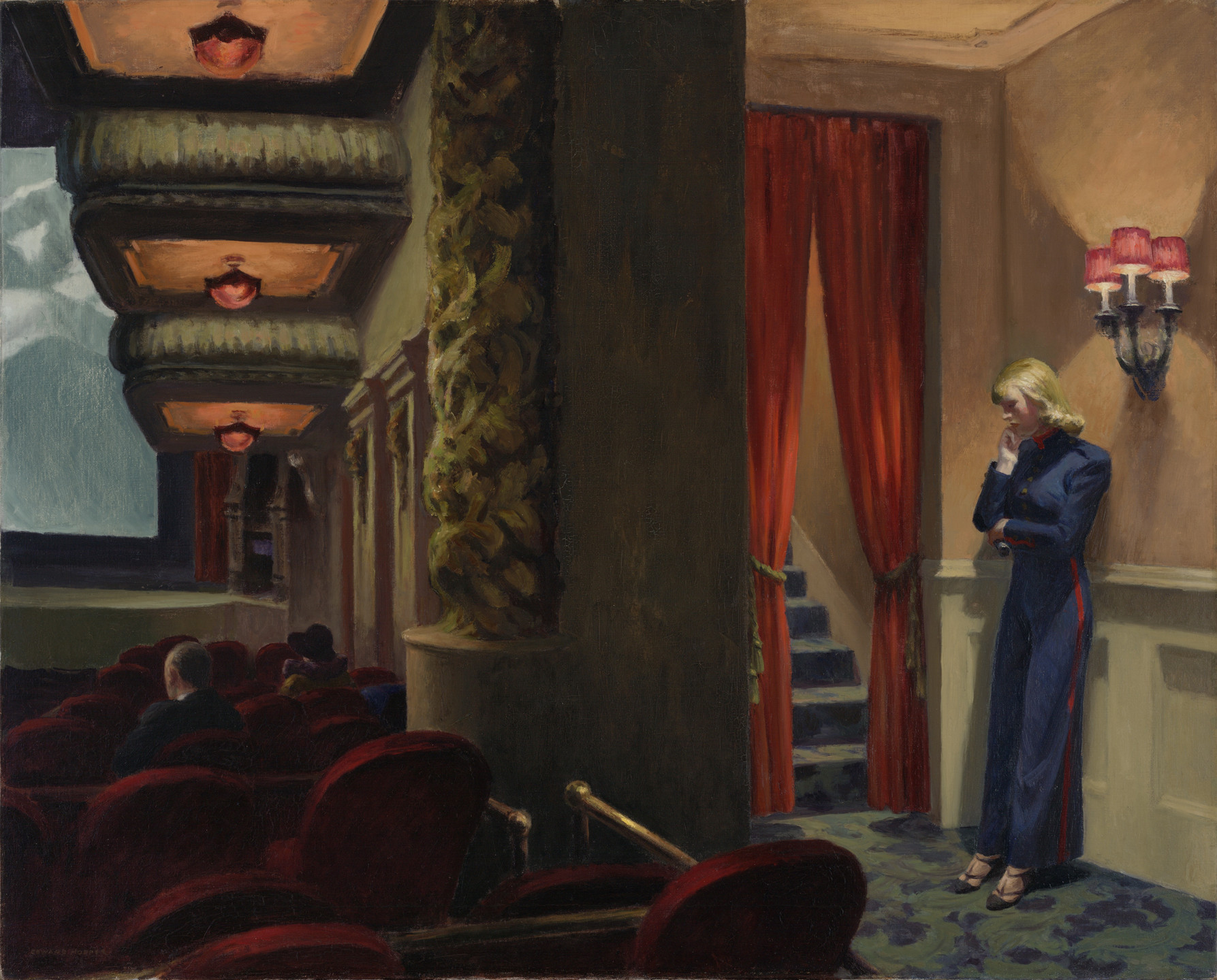 Edward Hopper. New York Movie. 1939