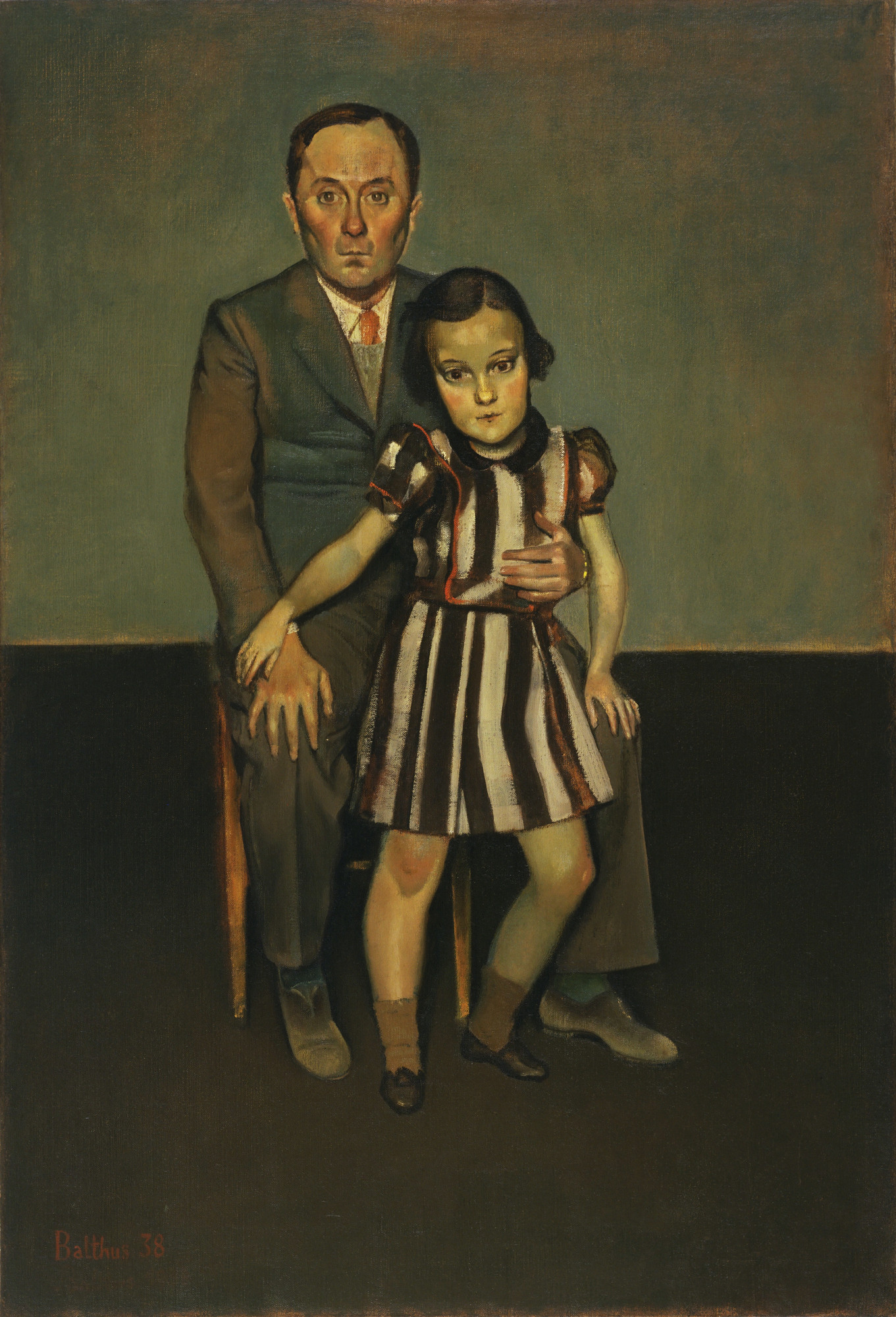 Balthus (Baltusz Klossowski de Rola). Joan Miró and His Daughter Dolores. October 1937-January 1938