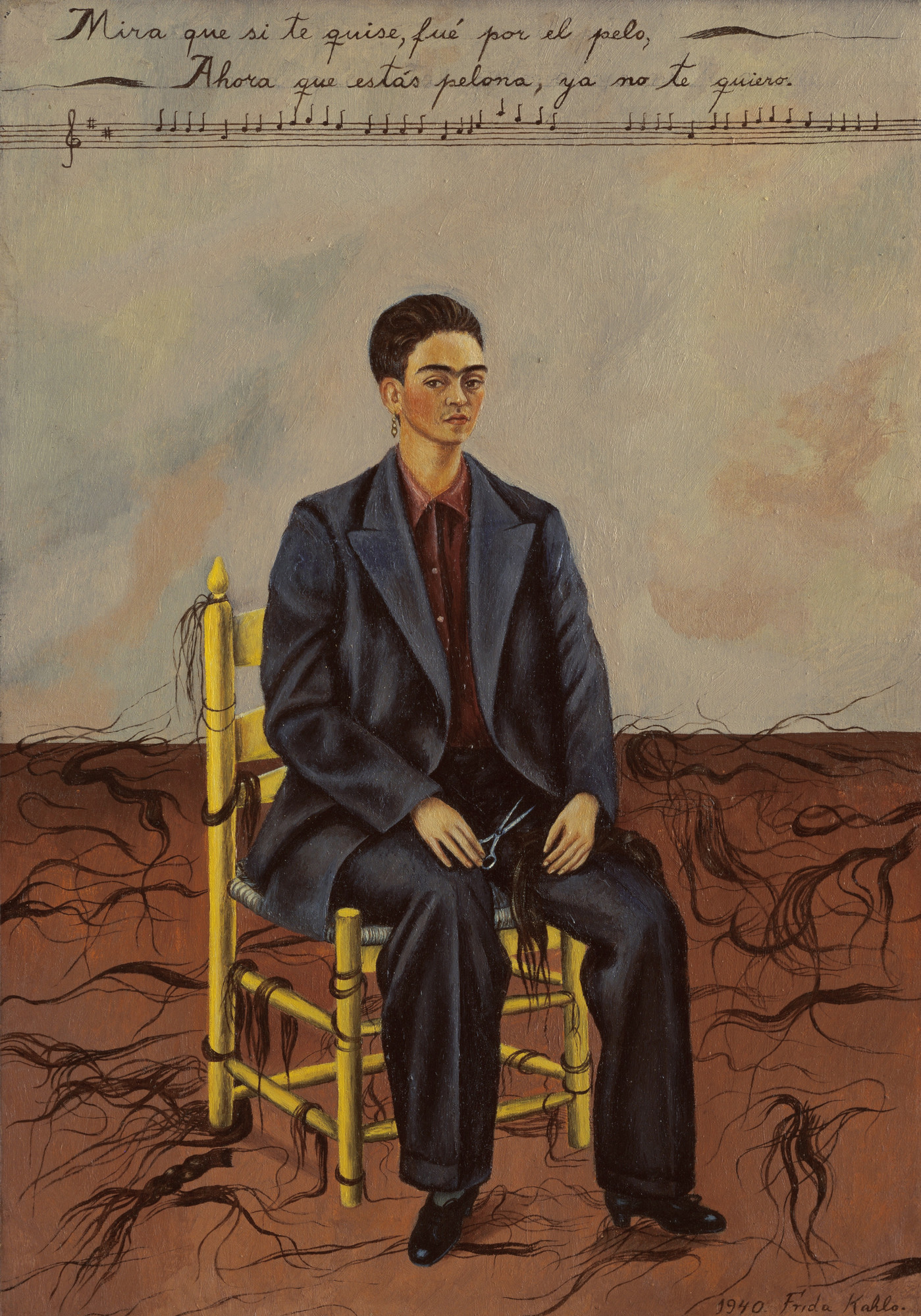 Frida Kahlo Self Portrait With Cropped Hair 1940 Moma