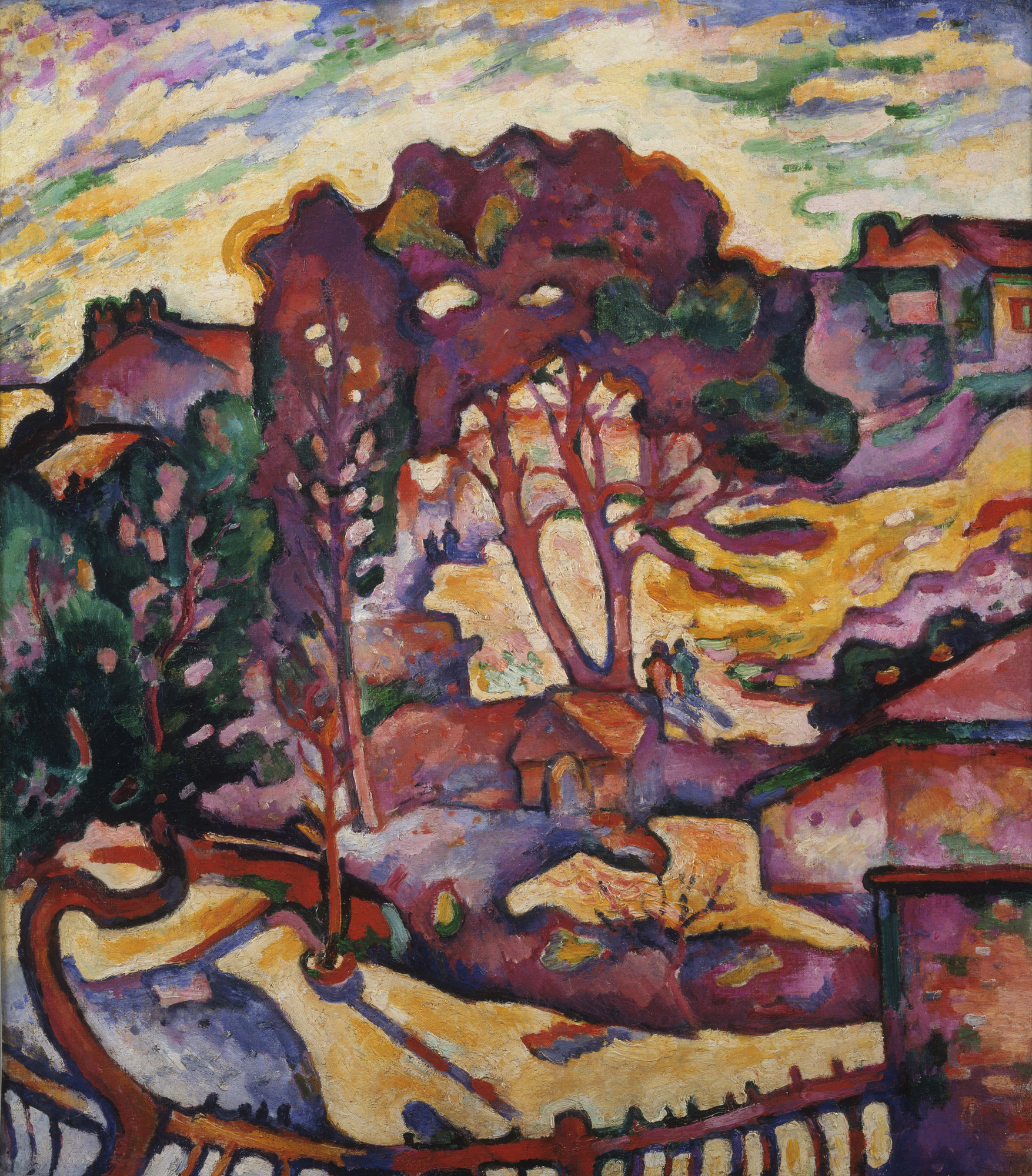 georges braque the large trees l estaque 1906 07 moma