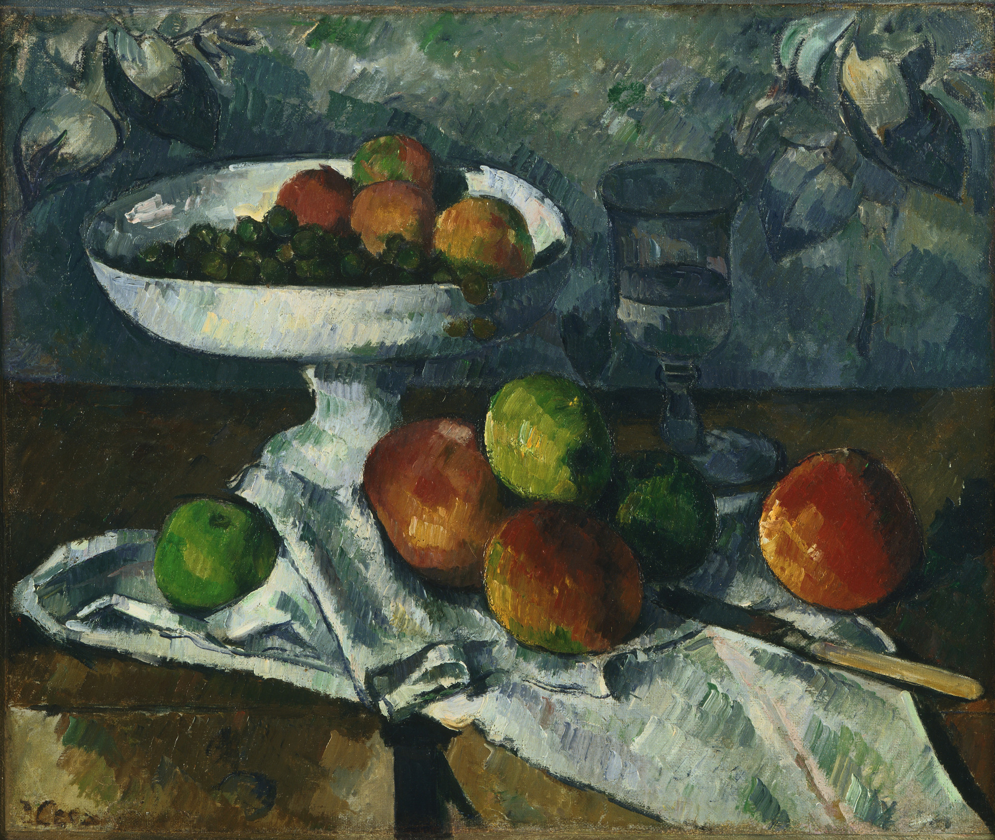Paul Cézanne. Still Life with Fruit Dish. 1879-80