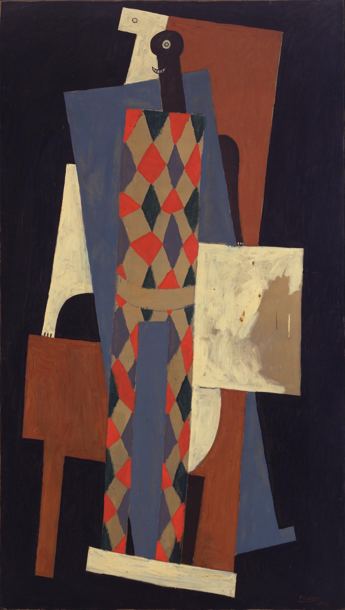 Pablo Picasso Harlequin Paris Late 1915 Moma