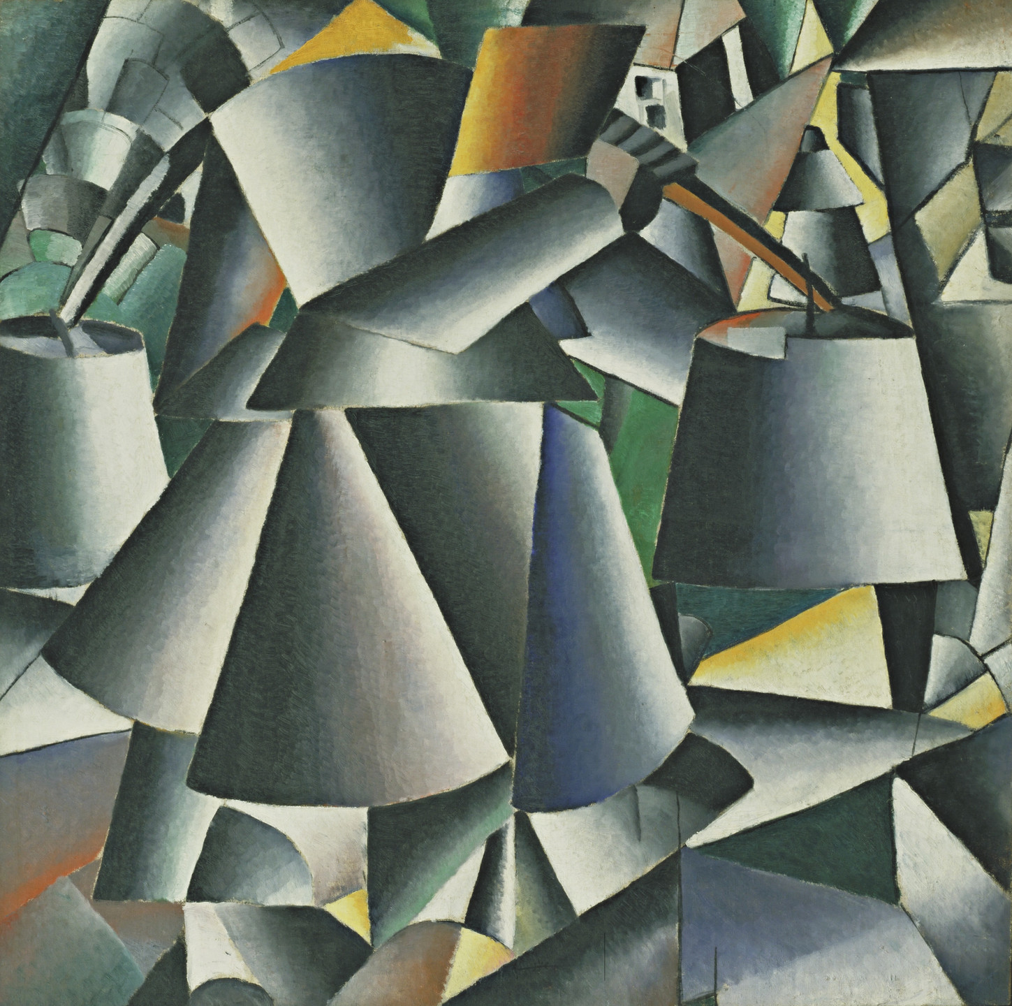 Kazimir Malevich. Woman with Pails: Dynamic Arrangement. 1912-13 (dated on reverse 1912)