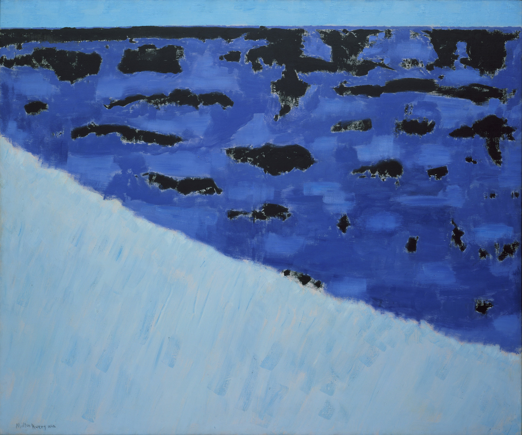 Milton Avery. Sea Grasses and Blue Sea. 1958