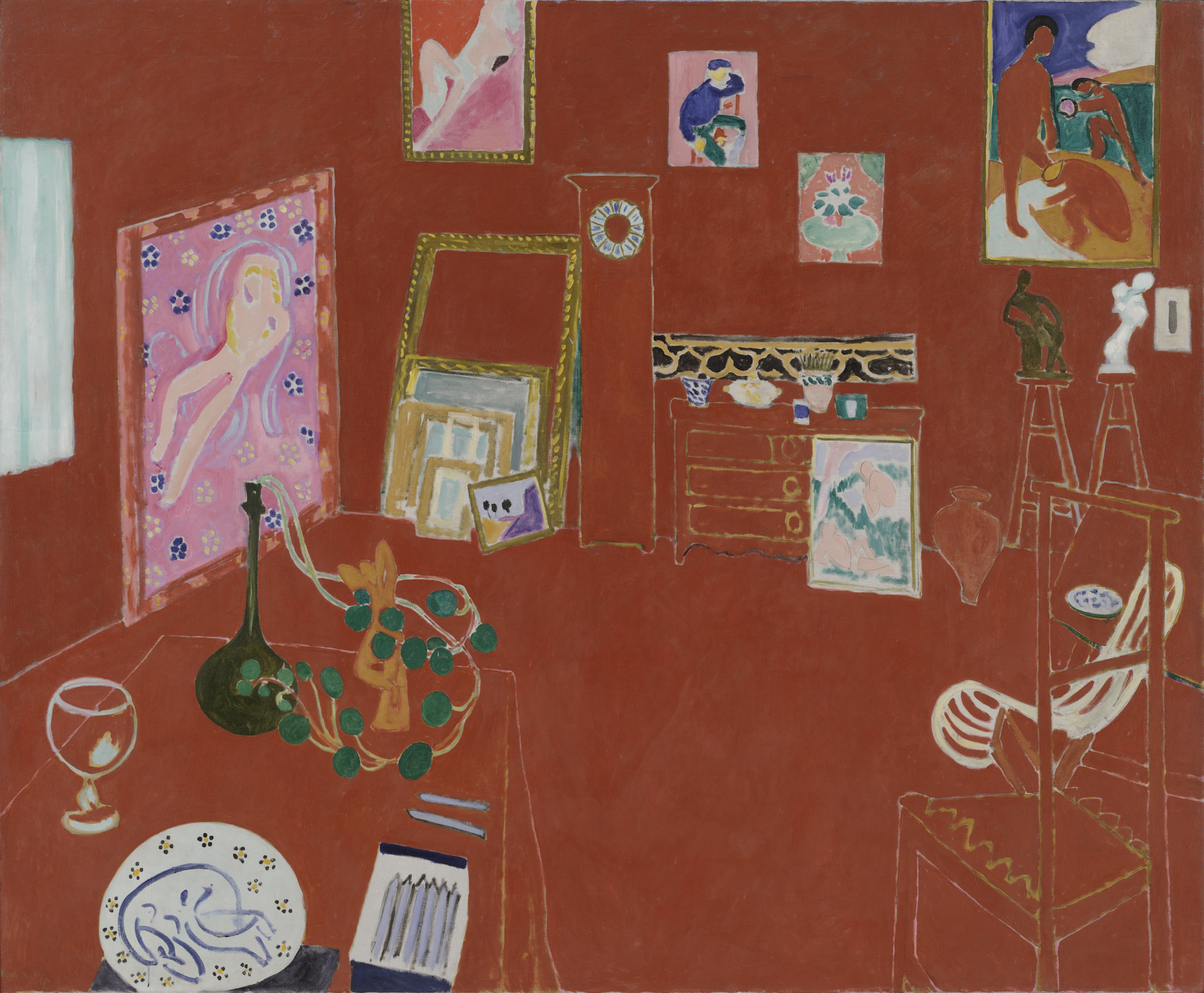 Henri Matisse. The Red Studio. Issy-les-Moulineaux, fall 1911