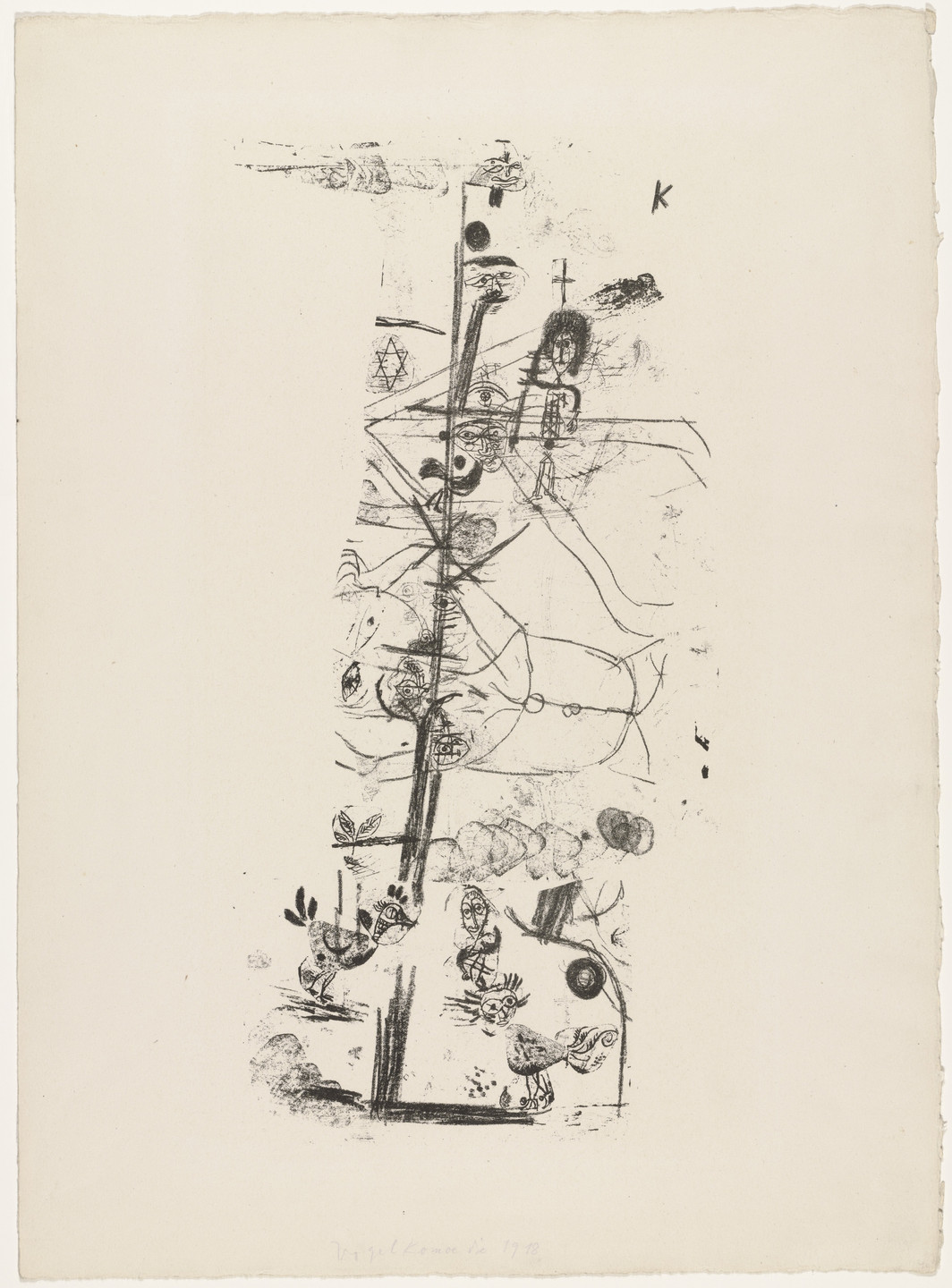 Paul Klee. Comedy of Birds (Vogelkomödie) for the portfolio 25 Original Lithographs by the Munich New Secession (25 Original-Lithographien der Münchener Neuen Secession). 1918