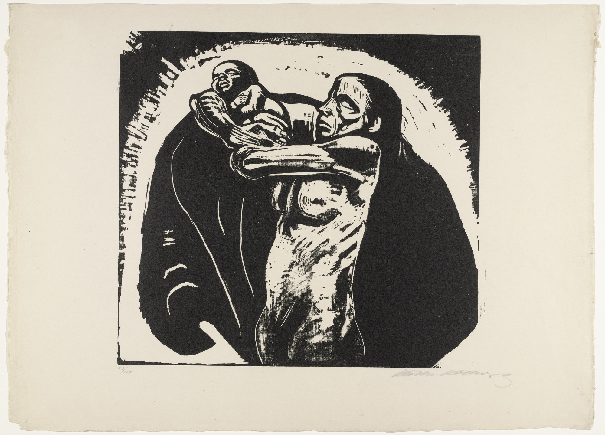 Käthe Kollwitz. The Sacrifice (Das Opfer) from War (Krieg). 1922, published 1923