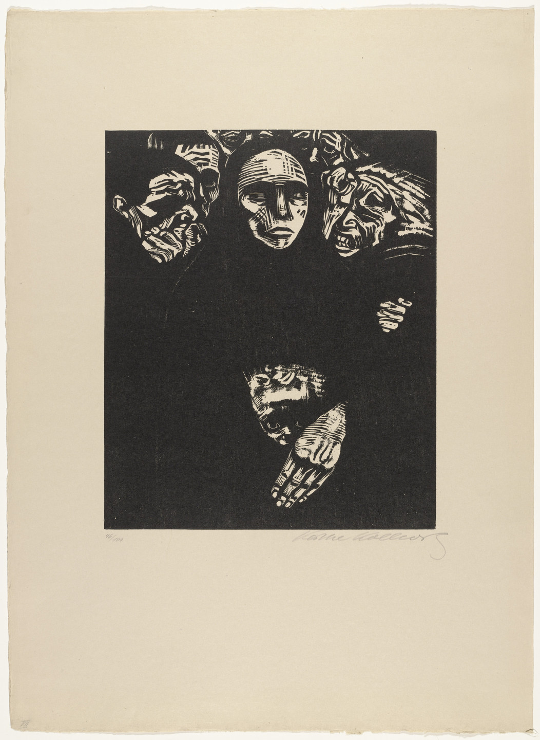 Käthe Kollwitz. The People (Das Volk) from War (Krieg). 1922, published 1923