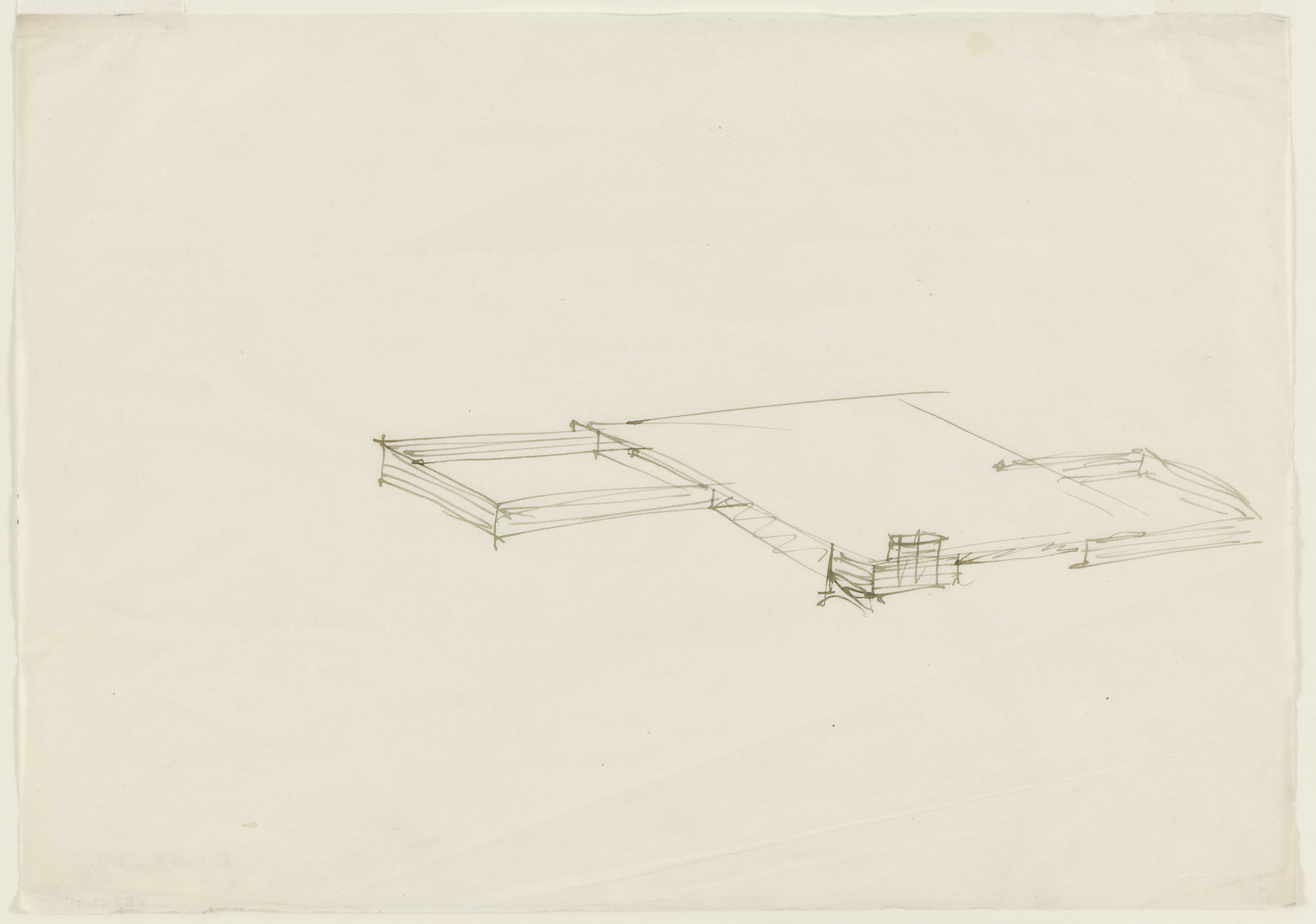 Ludwig Mies van der Rohe. Court House project (Aerial perspective). c. 1934