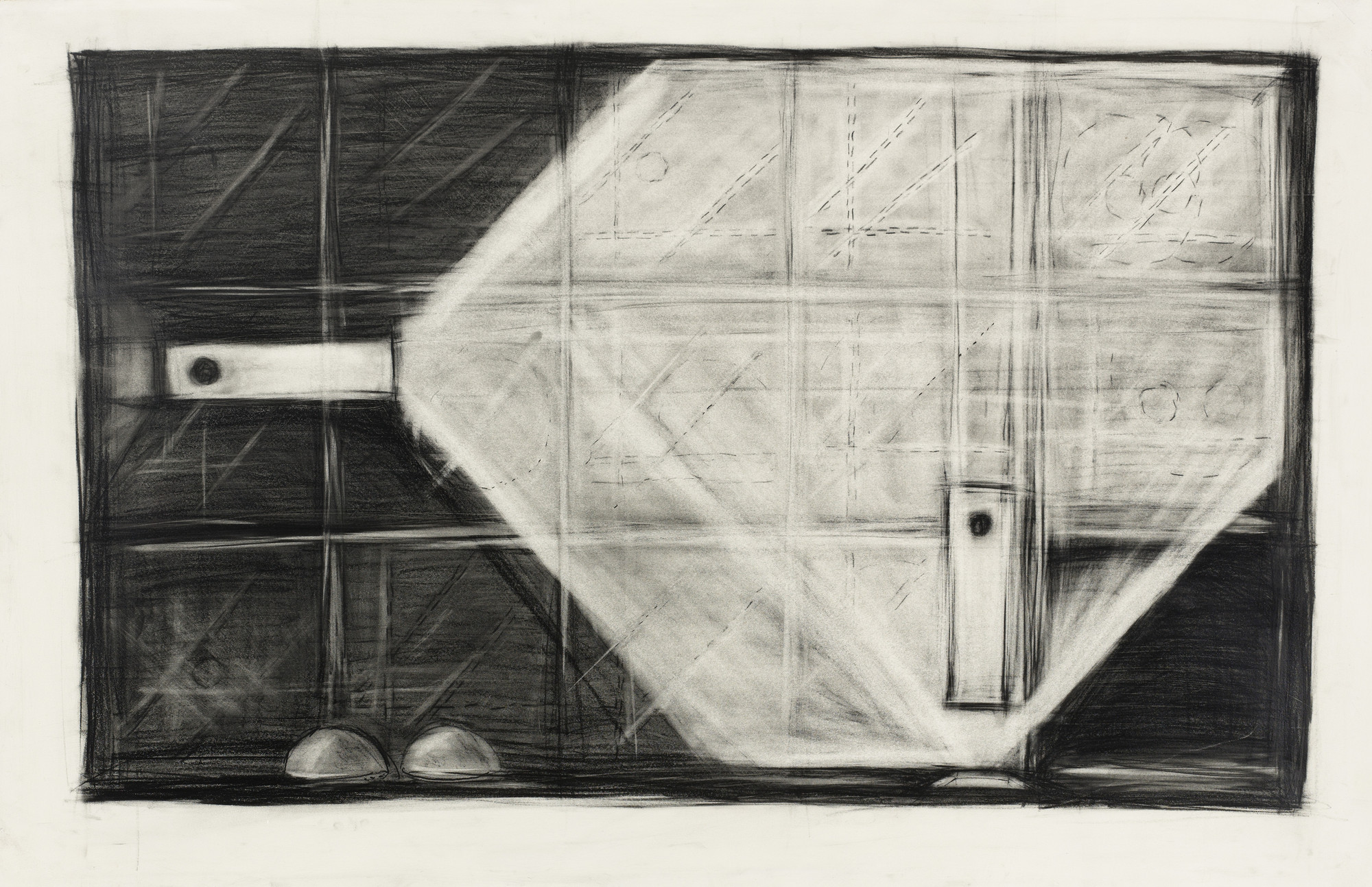 Robert Wilson. Large Drawing for Spaceship Scene. Design for the opera Einstein on the Beach. 1976