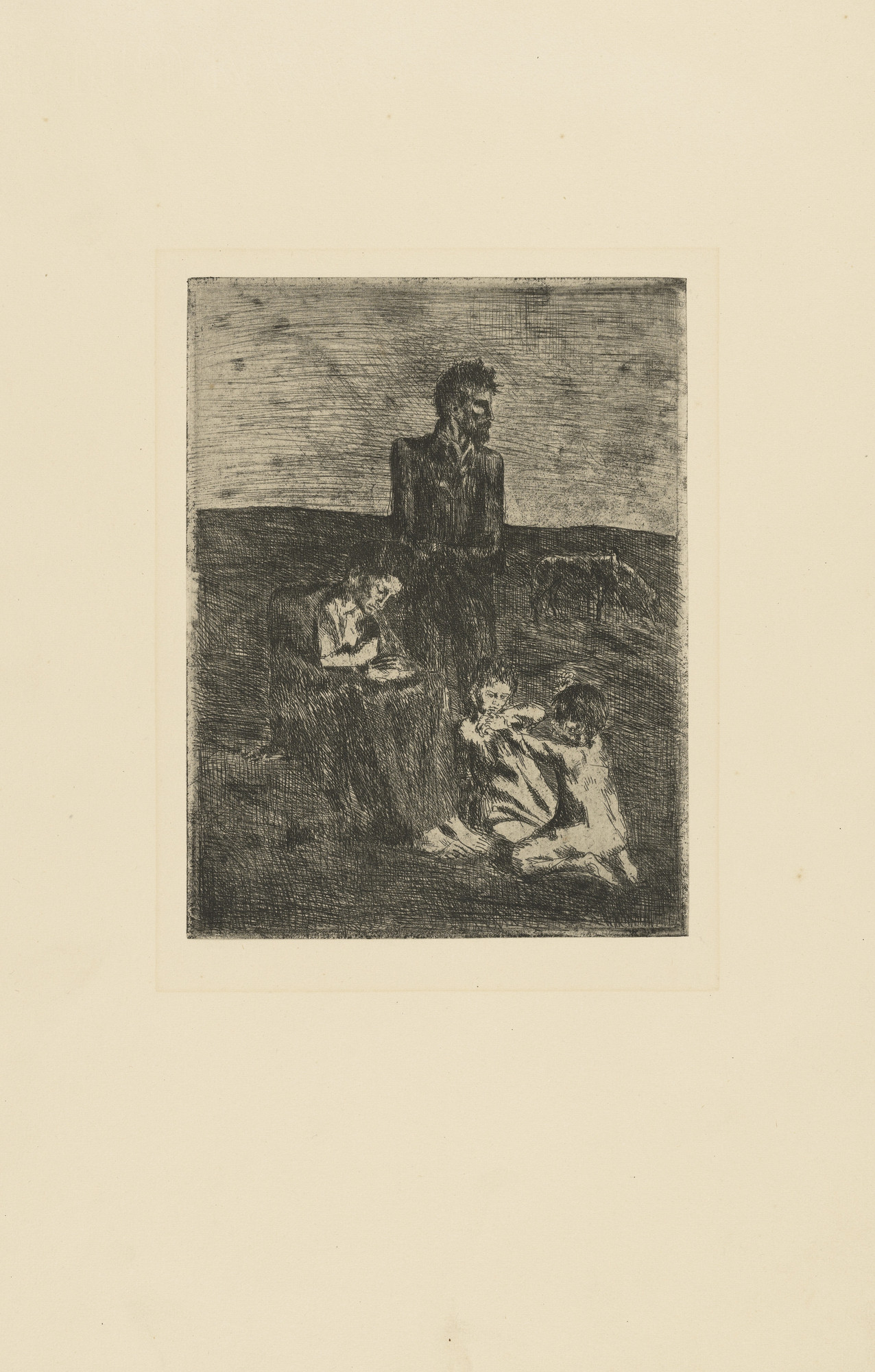 Pablo Picasso. The Poor (Les Pauvres) from the Saltimbanques series. 1905, published 1913