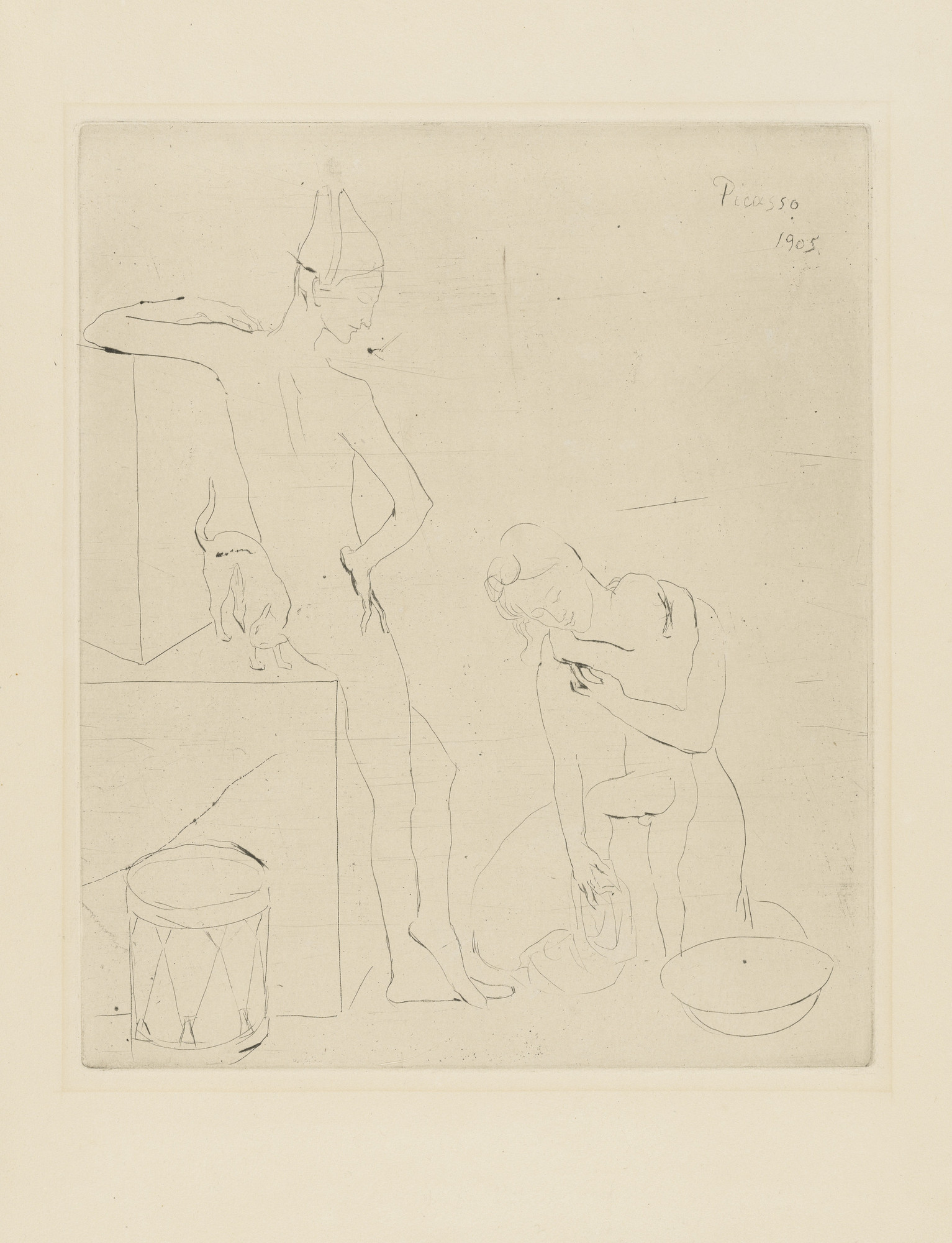 Pablo Picasso. Bath (Le Bain) from the Saltimbanques series. 1905, published 1913