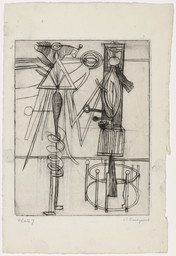 Louise Bourgeois. Plate 7. He Disappeared into Complete Silence. 1946-1947
