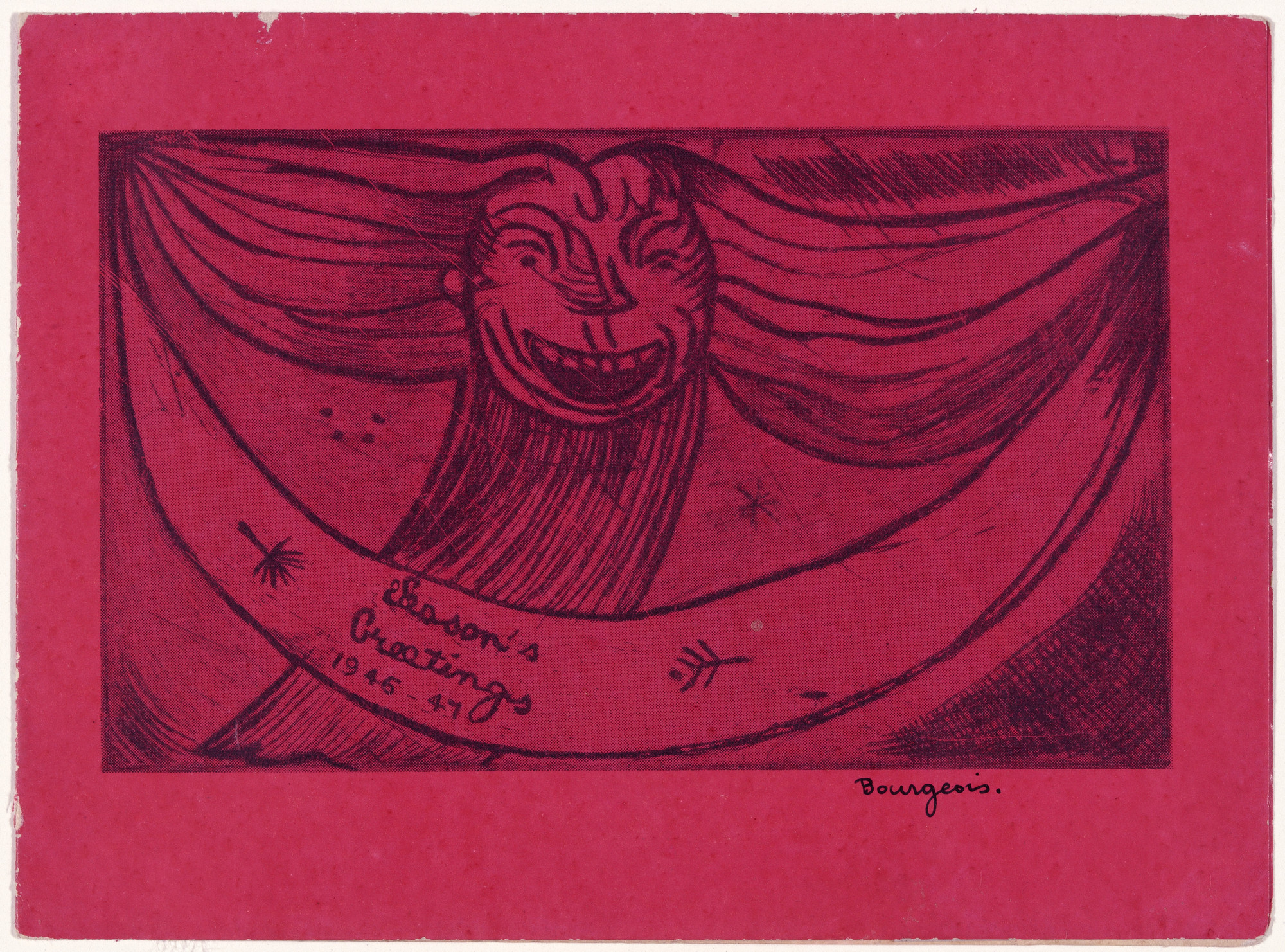 Louise Bourgeois. Greetings: Laughing Monster. 1946