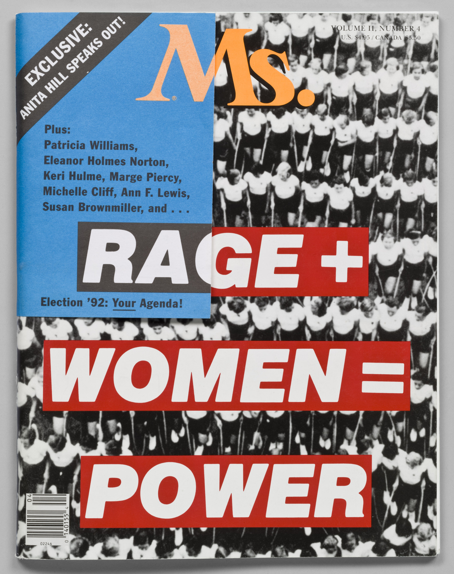 Barbara Kruger. Rage + Women = Power, cover for Ms. magazine. January/February 1992