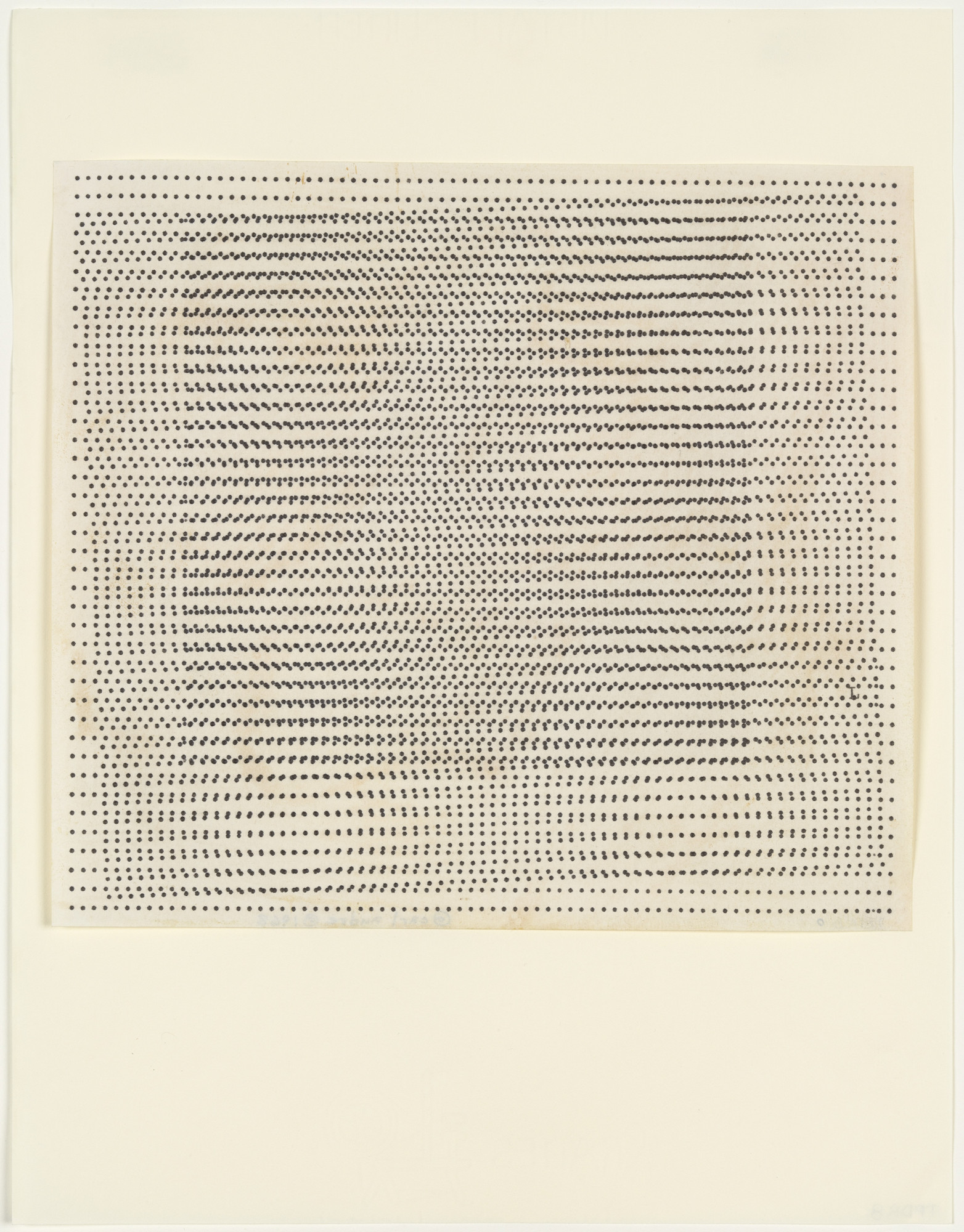 Carl Andre. Untitled. 1963
