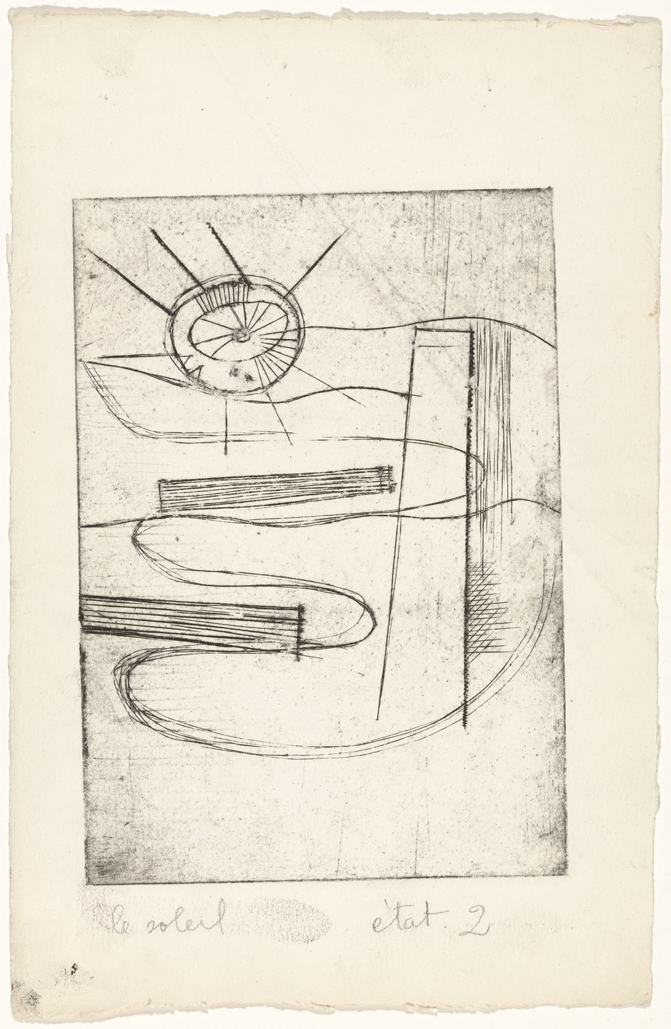Louise Bourgeois. Le Soleil. 1947