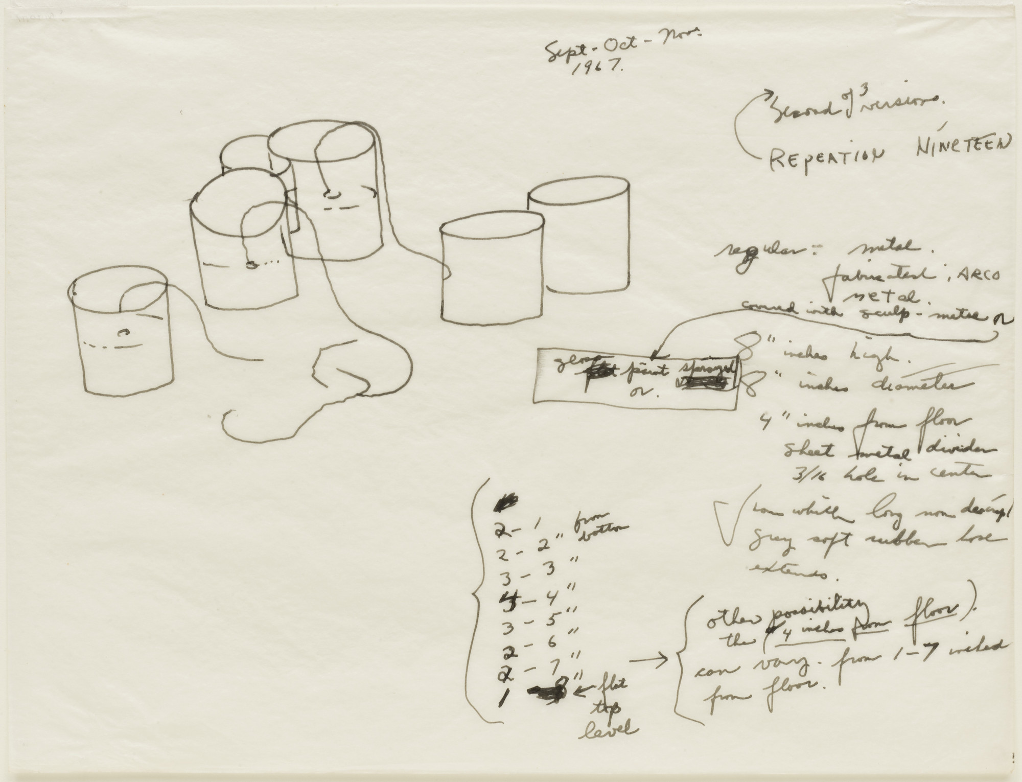 Eva Hesse. Repetition Nineteen, Second of 3 versions. 1967