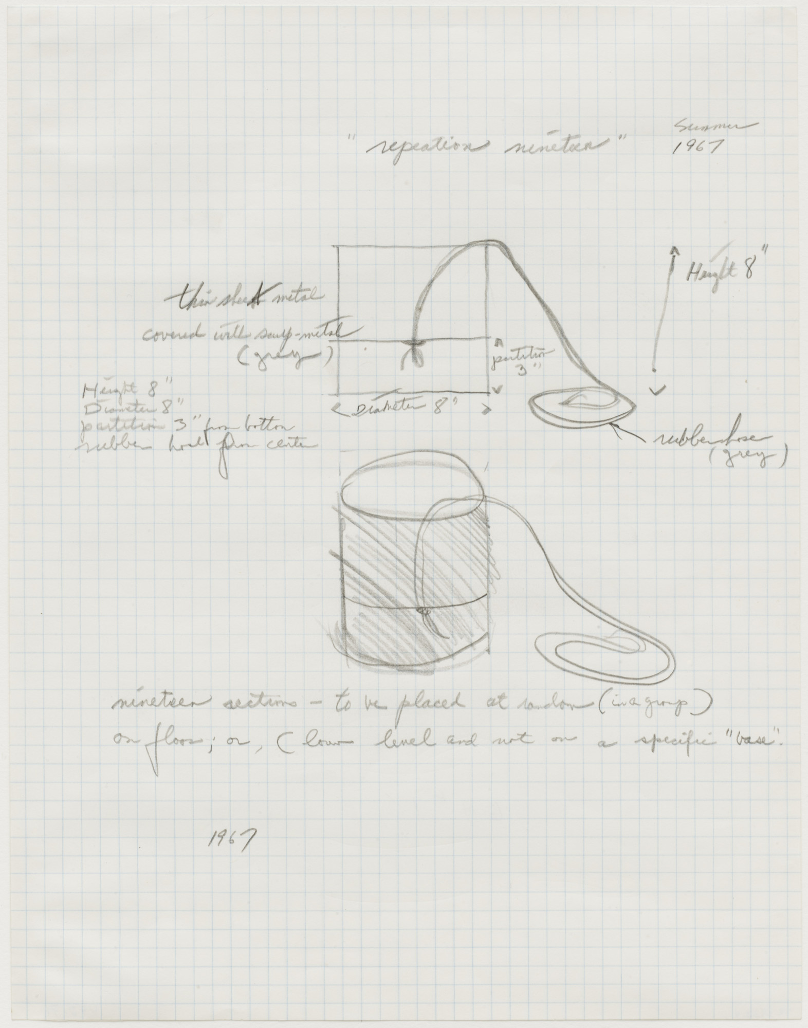 Eva Hesse. Repetition Nineteen. 1967